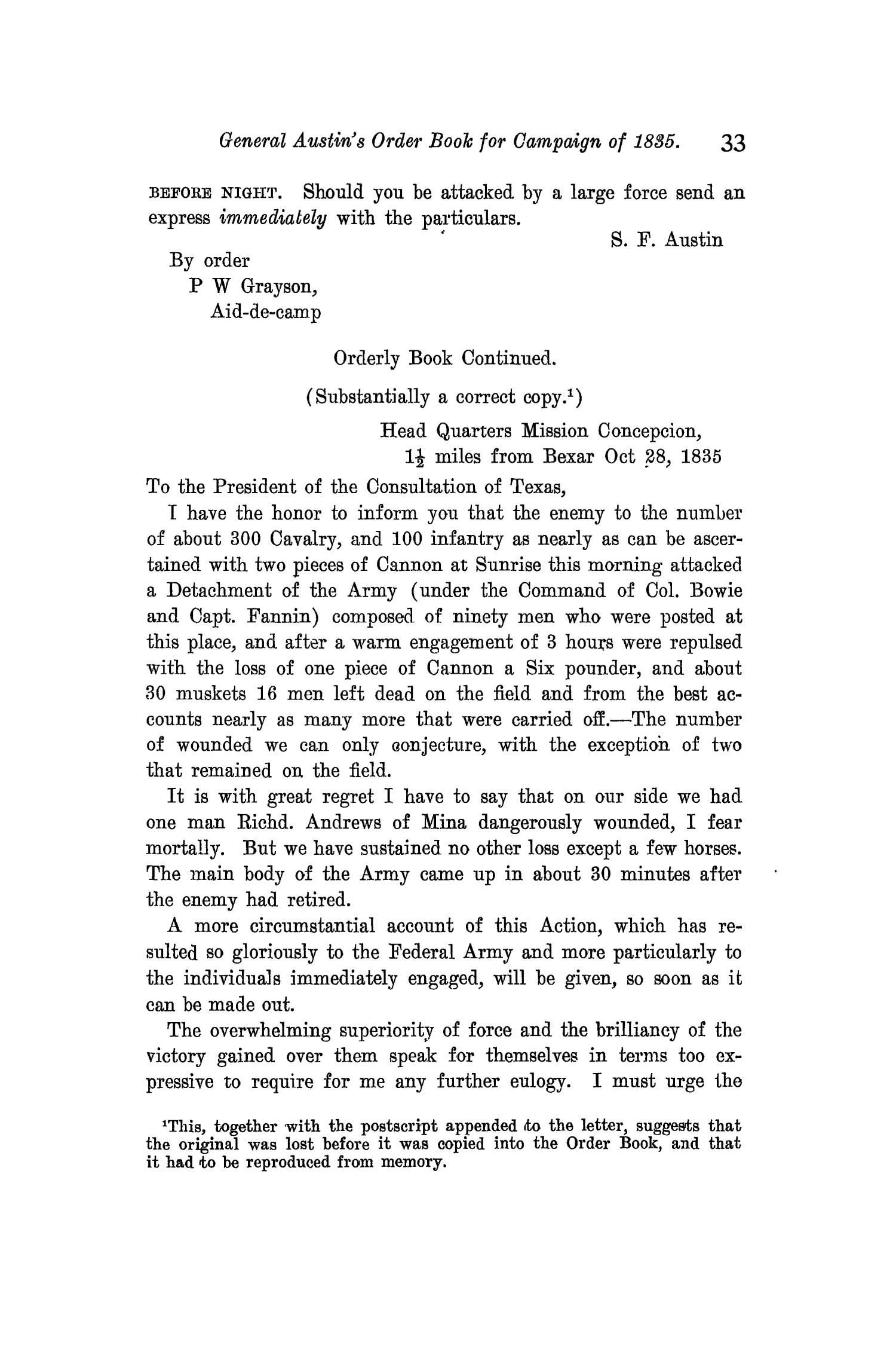 The Quarterly of the Texas State Historical Association, Volume 11, July 1907 - April, 1908                                                                                                      33