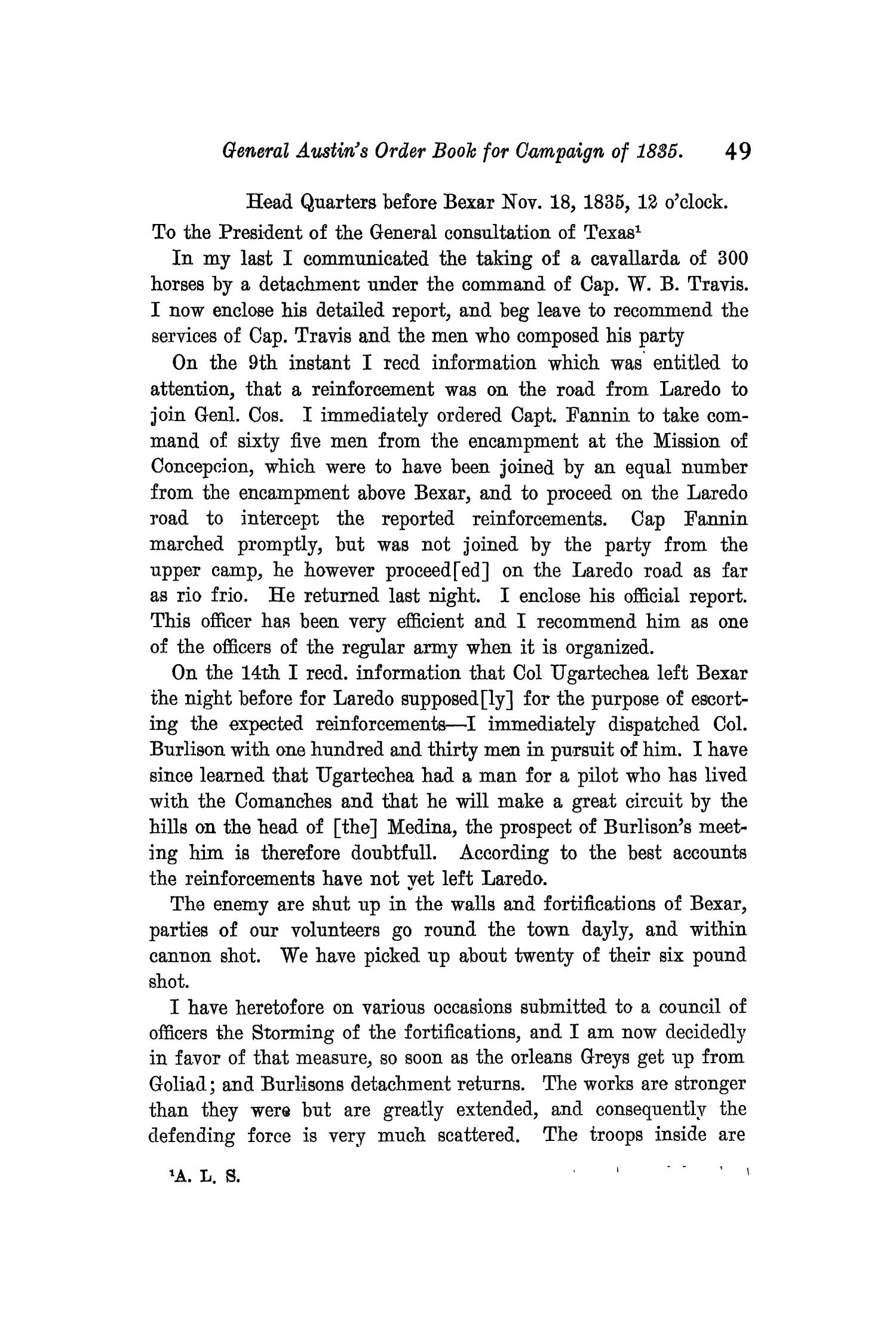 The Quarterly of the Texas State Historical Association, Volume 11, July 1907 - April, 1908                                                                                                      49