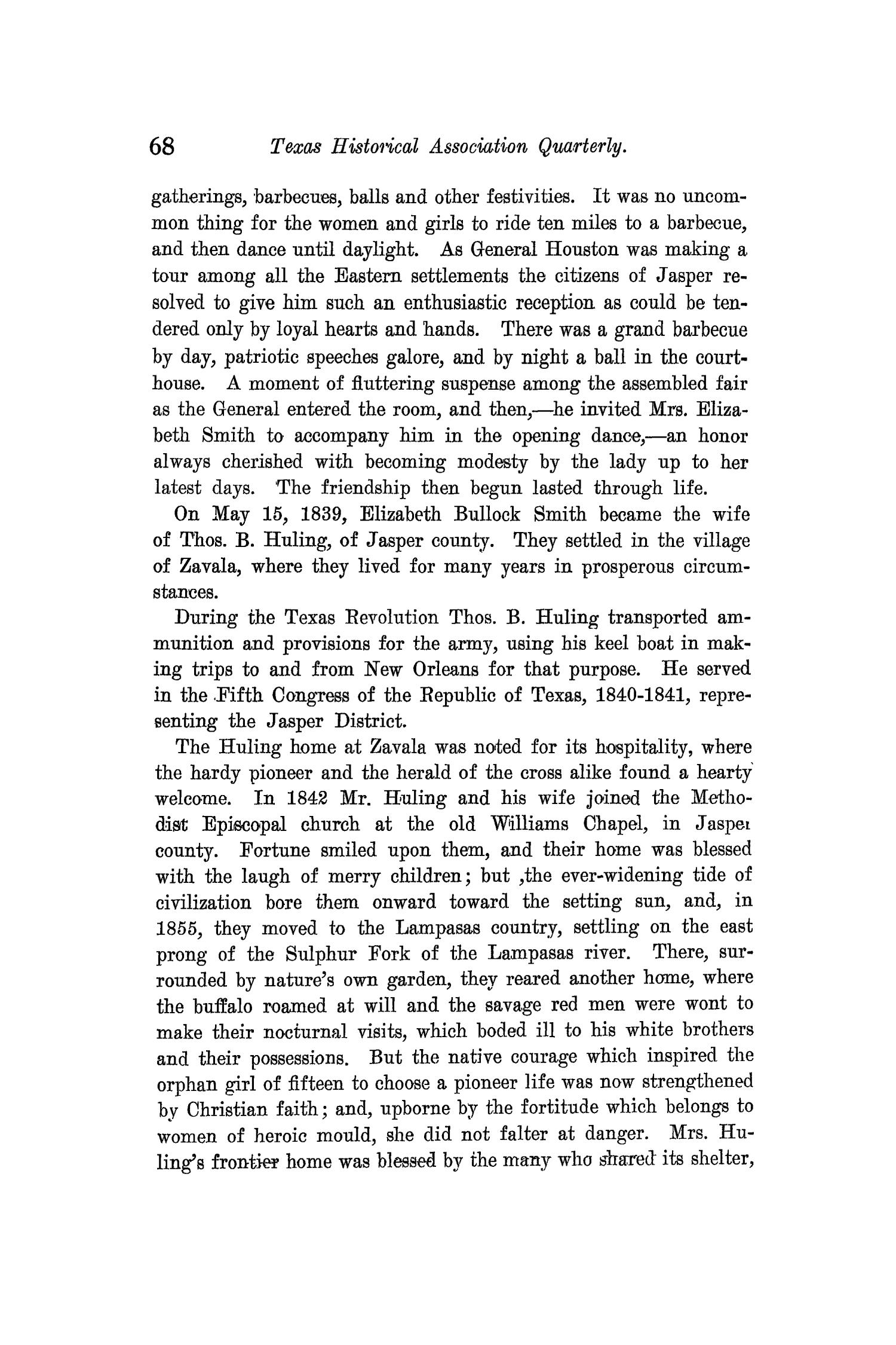 The Quarterly of the Texas State Historical Association, Volume 11, July 1907 - April, 1908                                                                                                      68