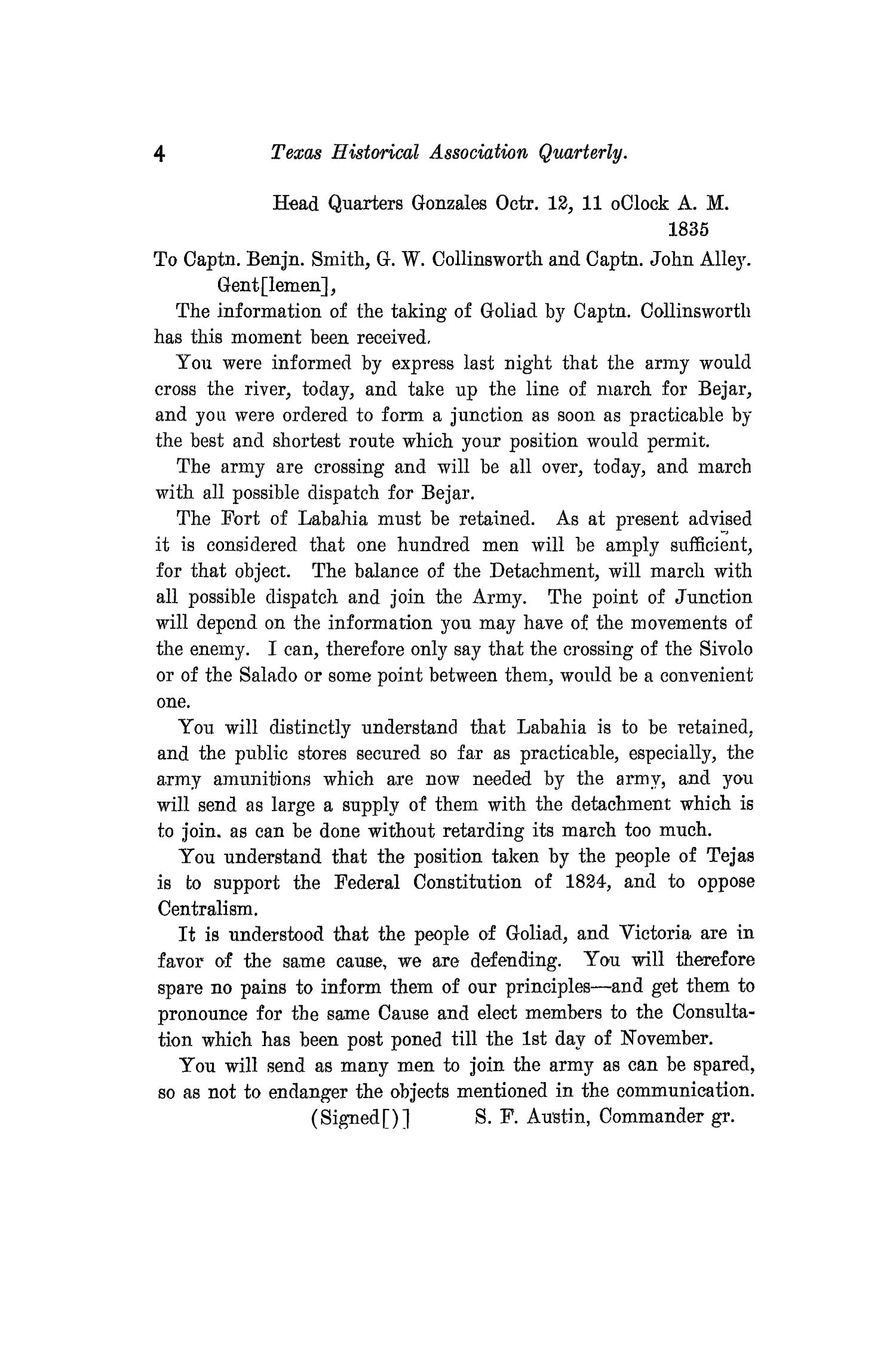 The Quarterly of the Texas State Historical Association, Volume 11, July 1907 - April, 1908                                                                                                      4