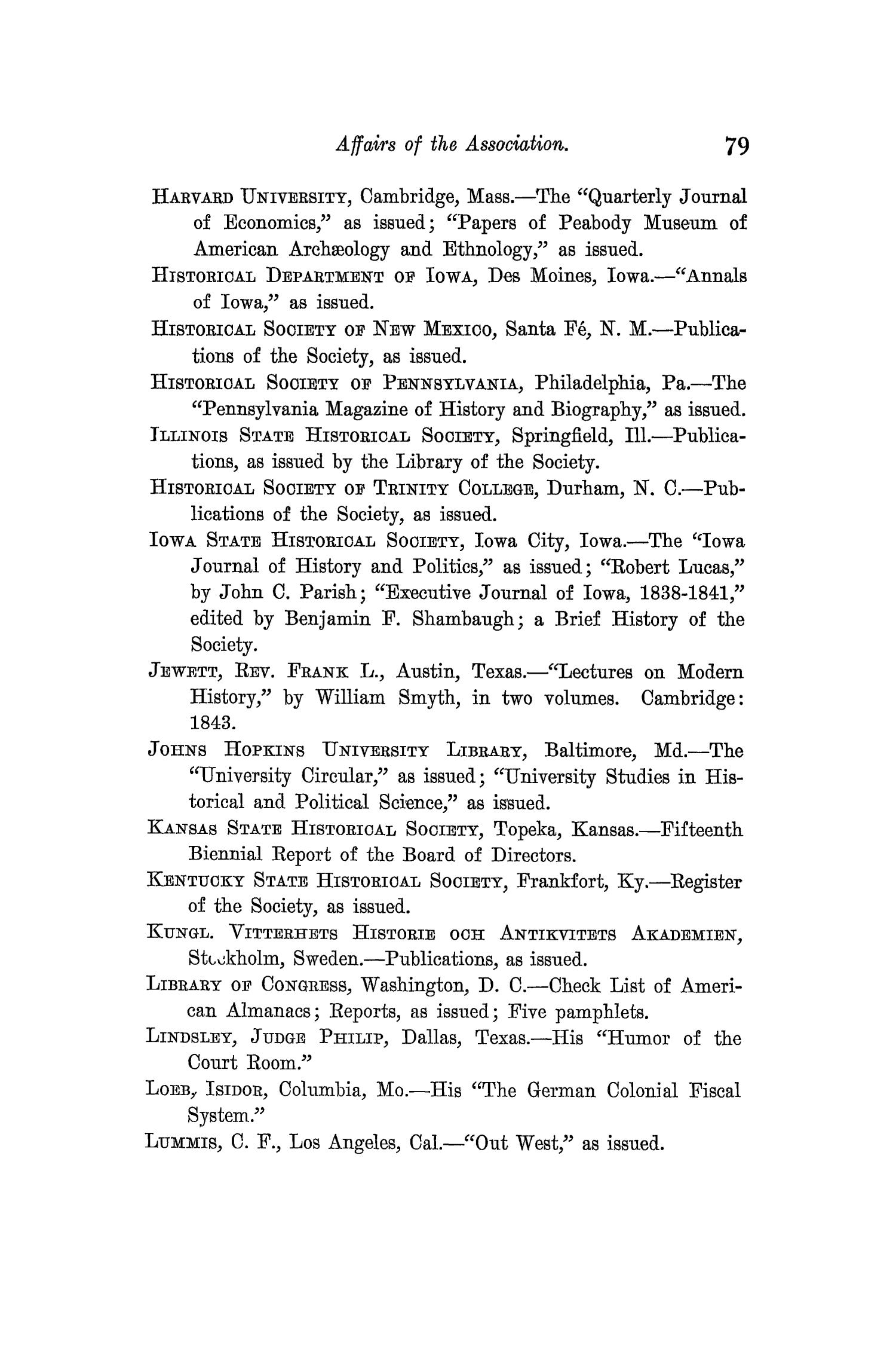 The Quarterly of the Texas State Historical Association, Volume 11, July 1907 - April, 1908                                                                                                      79