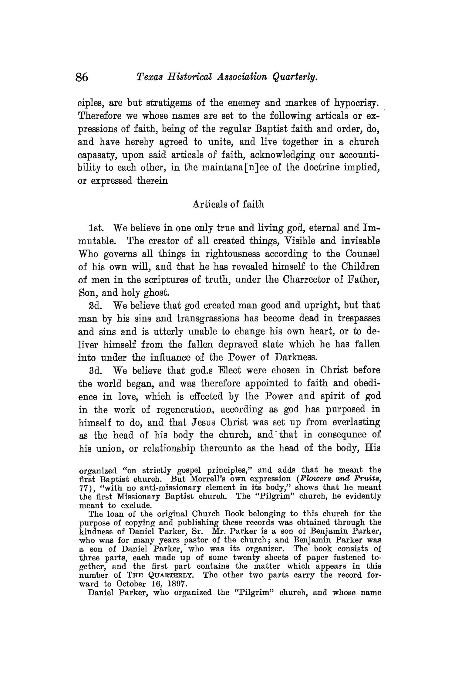 The Quarterly of the Texas State Historical Association, Volume 11, July 1907 - April, 1908                                                                                                      86