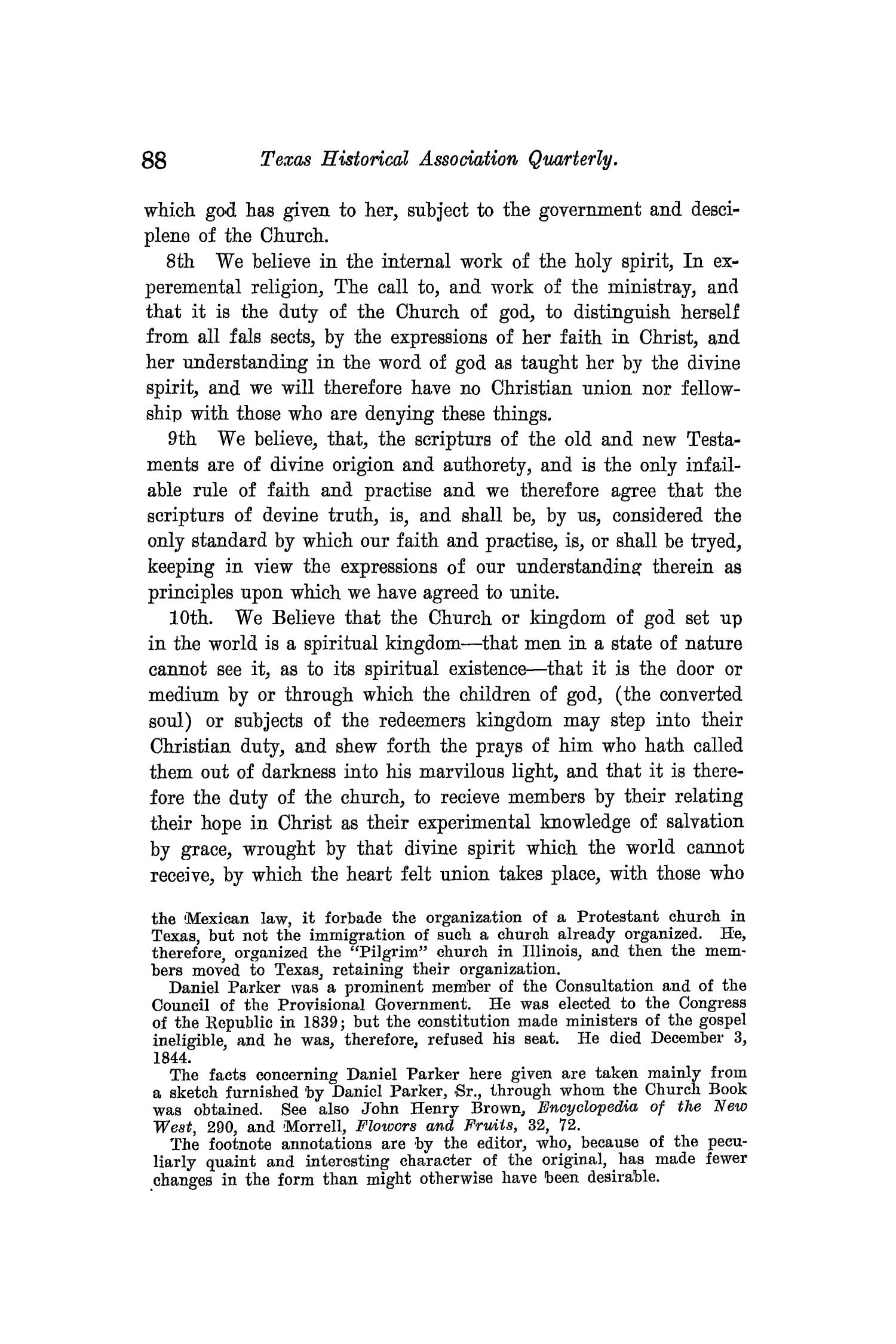 The Quarterly of the Texas State Historical Association, Volume 11, July 1907 - April, 1908                                                                                                      88