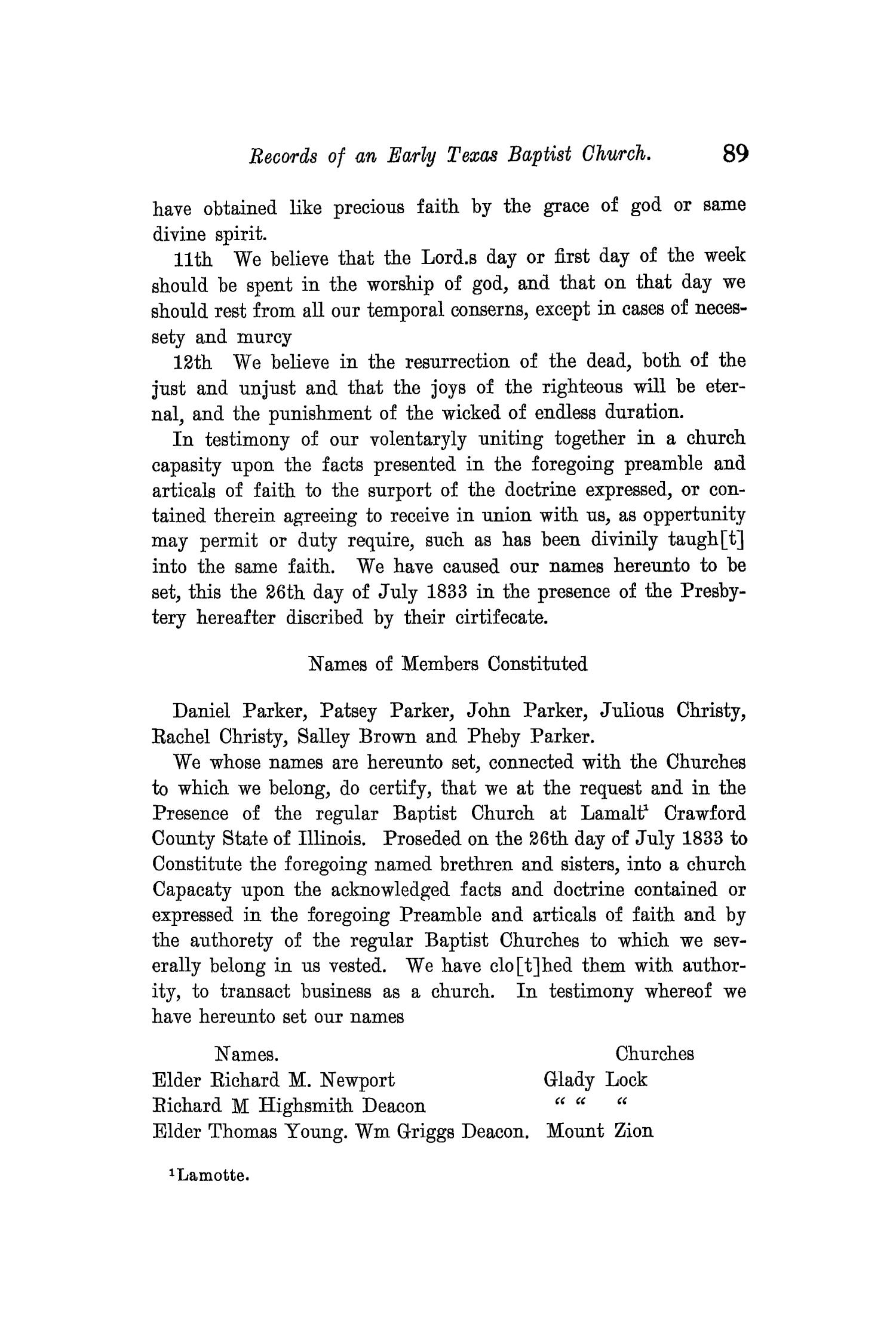 The Quarterly of the Texas State Historical Association, Volume 11, July 1907 - April, 1908                                                                                                      89