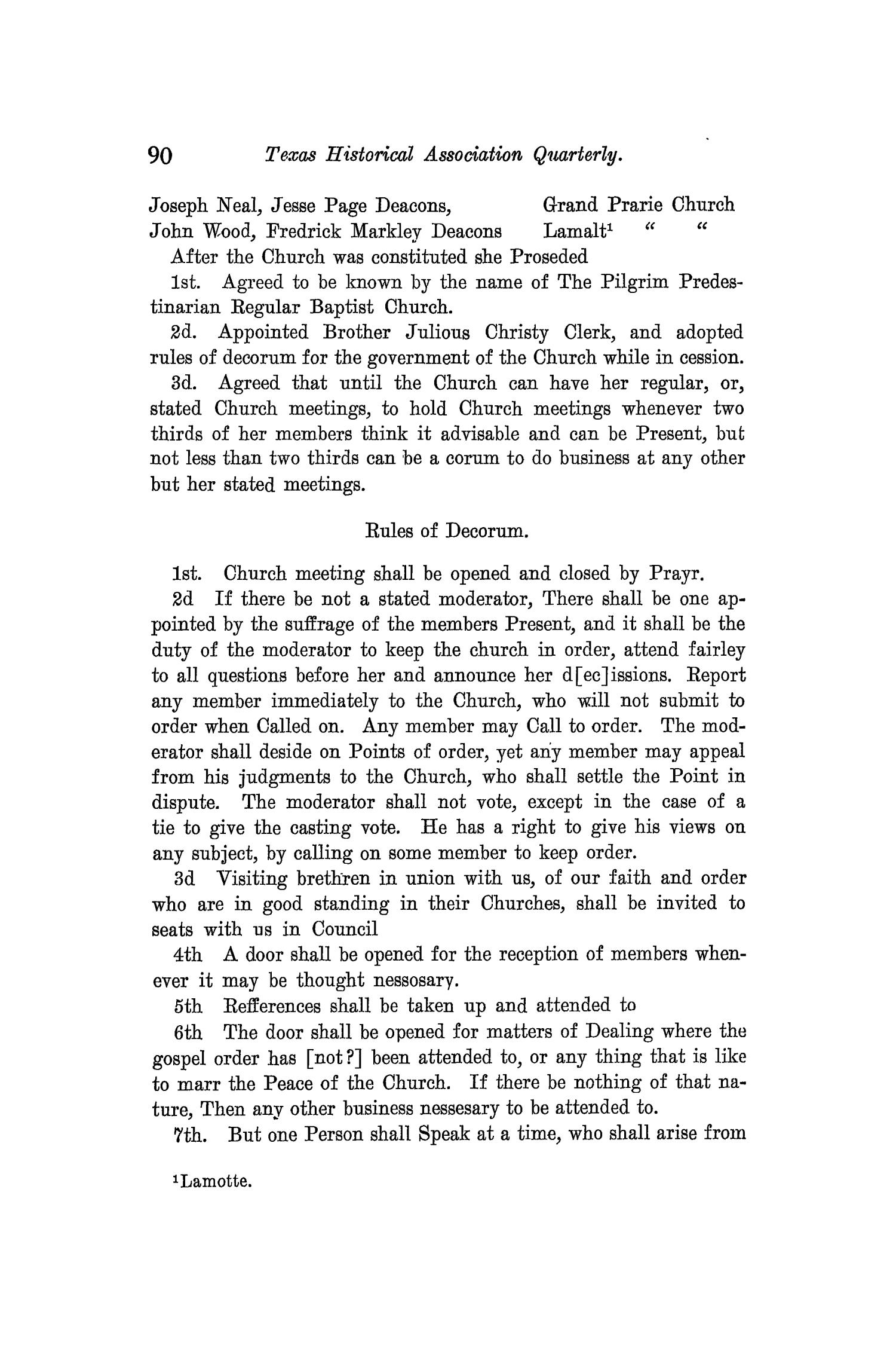 The Quarterly of the Texas State Historical Association, Volume 11, July 1907 - April, 1908                                                                                                      90