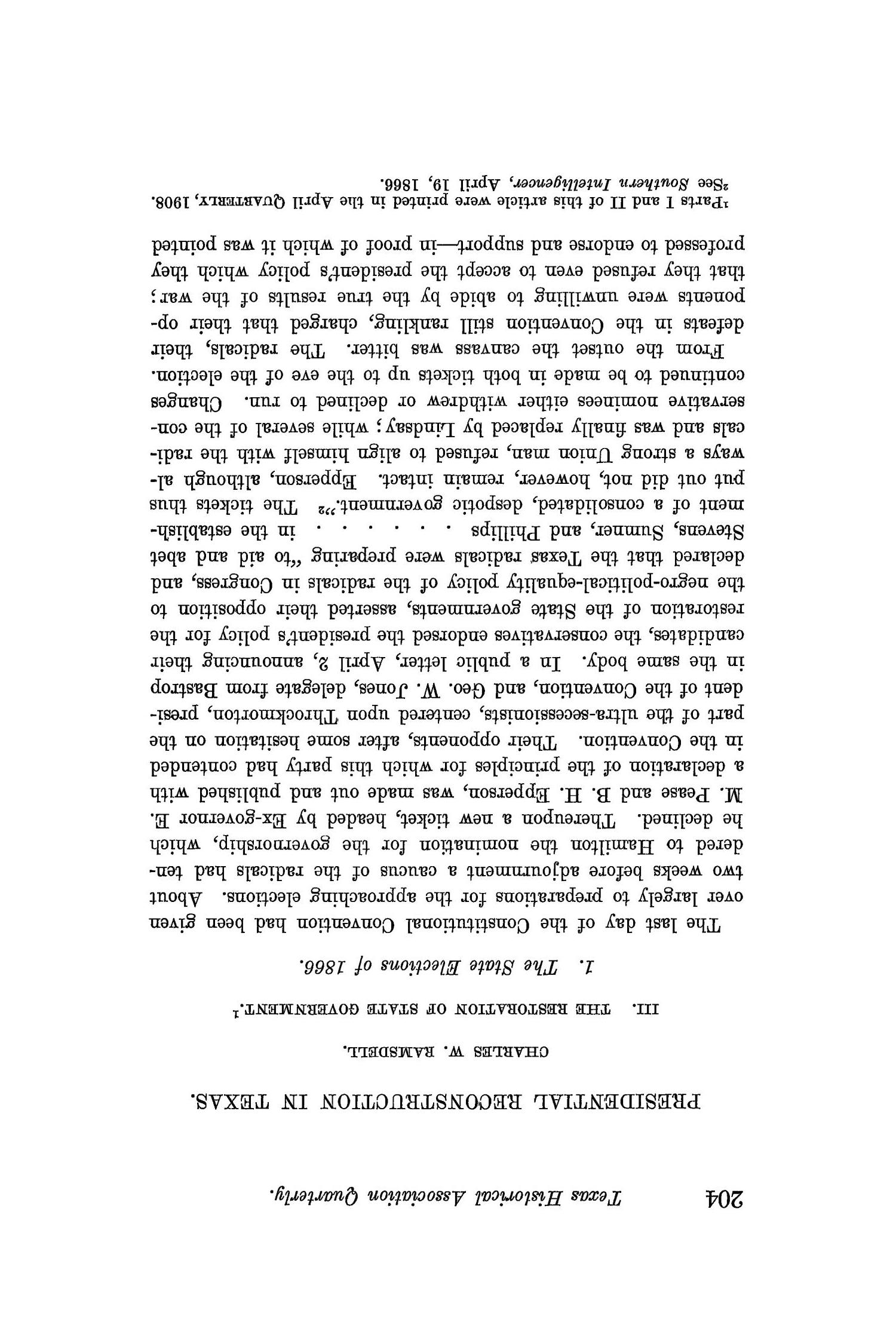 The Quarterly of the Texas State Historical Association, Volume 12, July 1908 - April, 1909                                                                                                      204