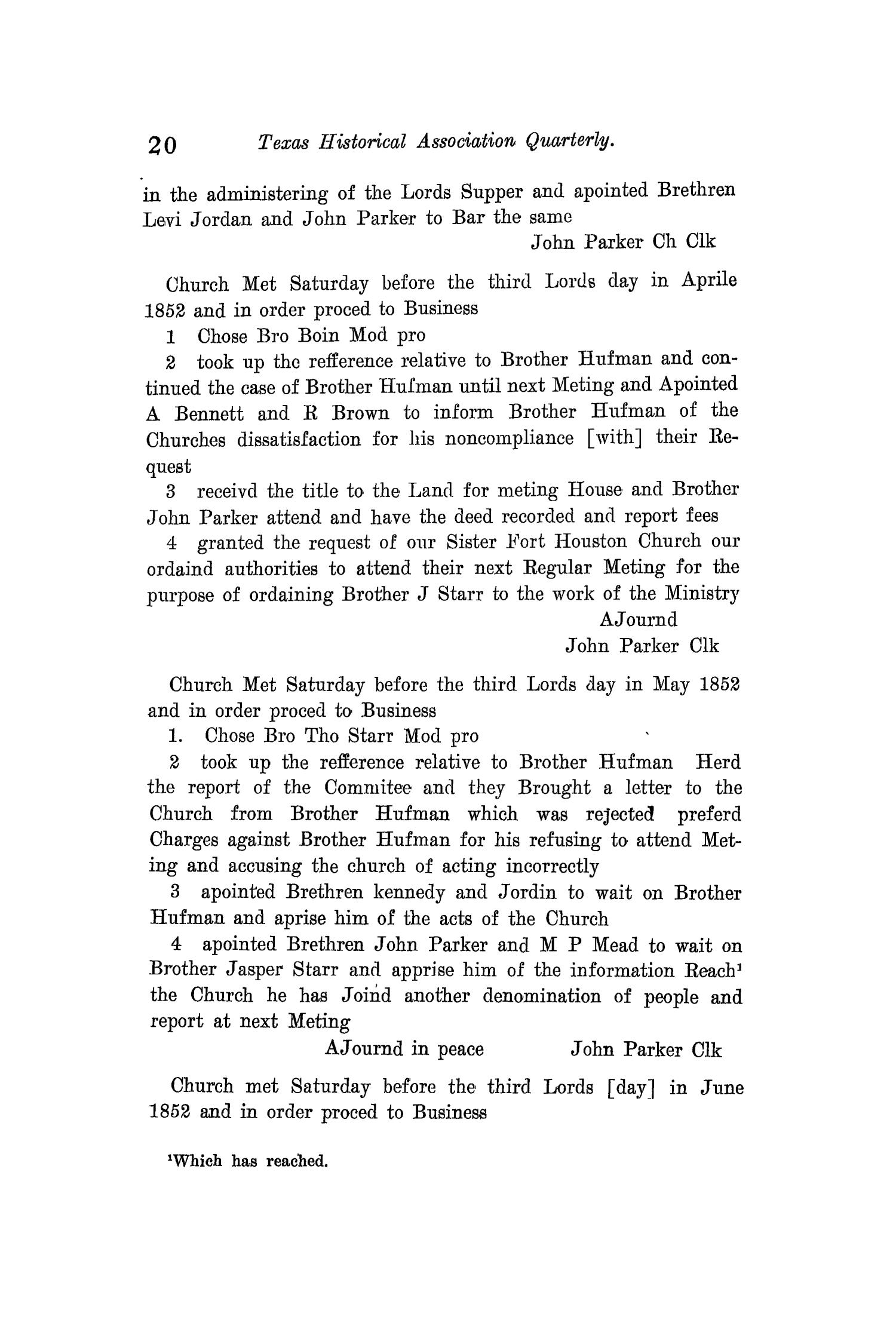 The Quarterly of the Texas State Historical Association, Volume 12, July 1908 - April, 1909                                                                                                      20
