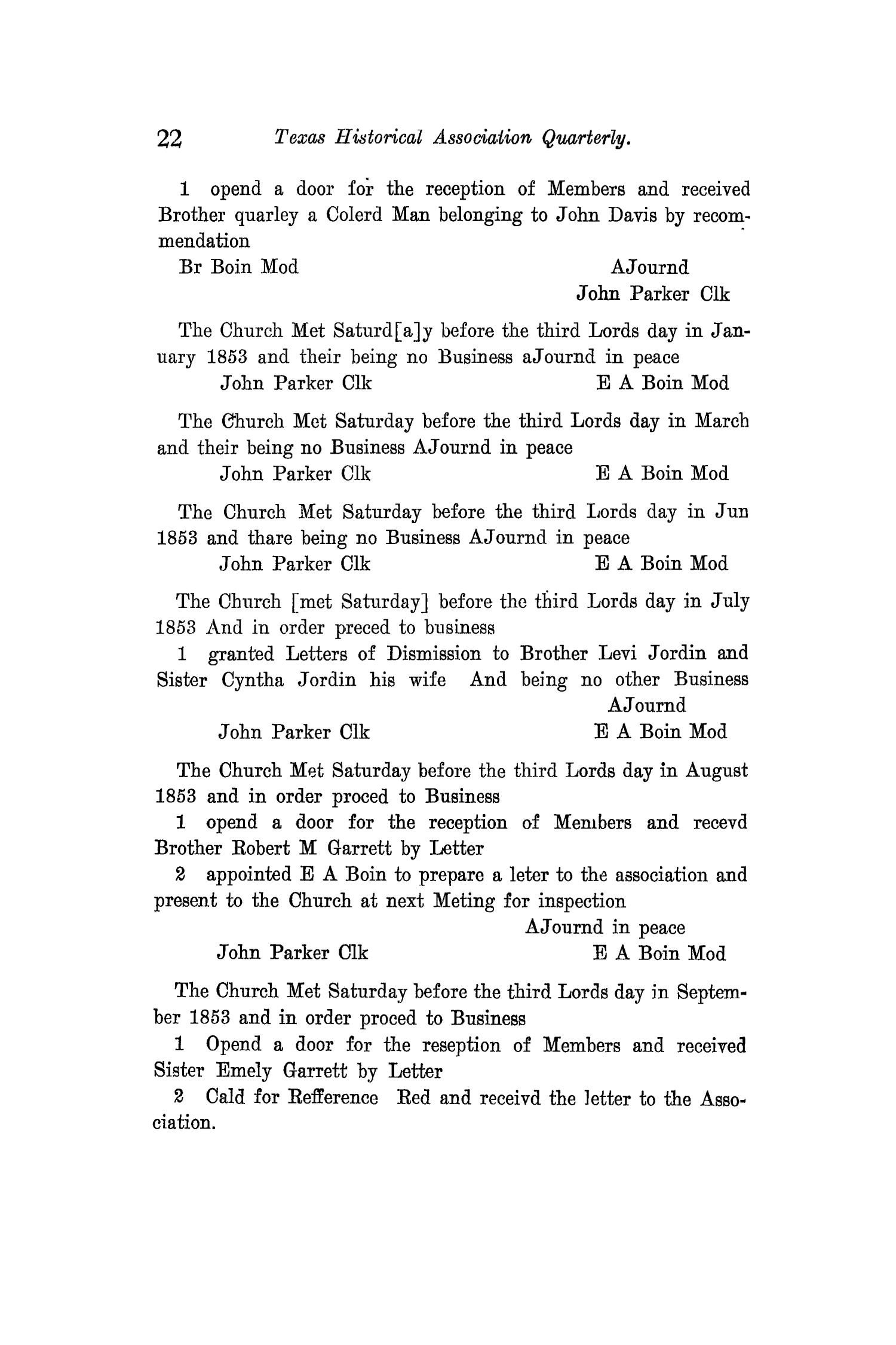 The Quarterly of the Texas State Historical Association, Volume 12, July 1908 - April, 1909                                                                                                      22