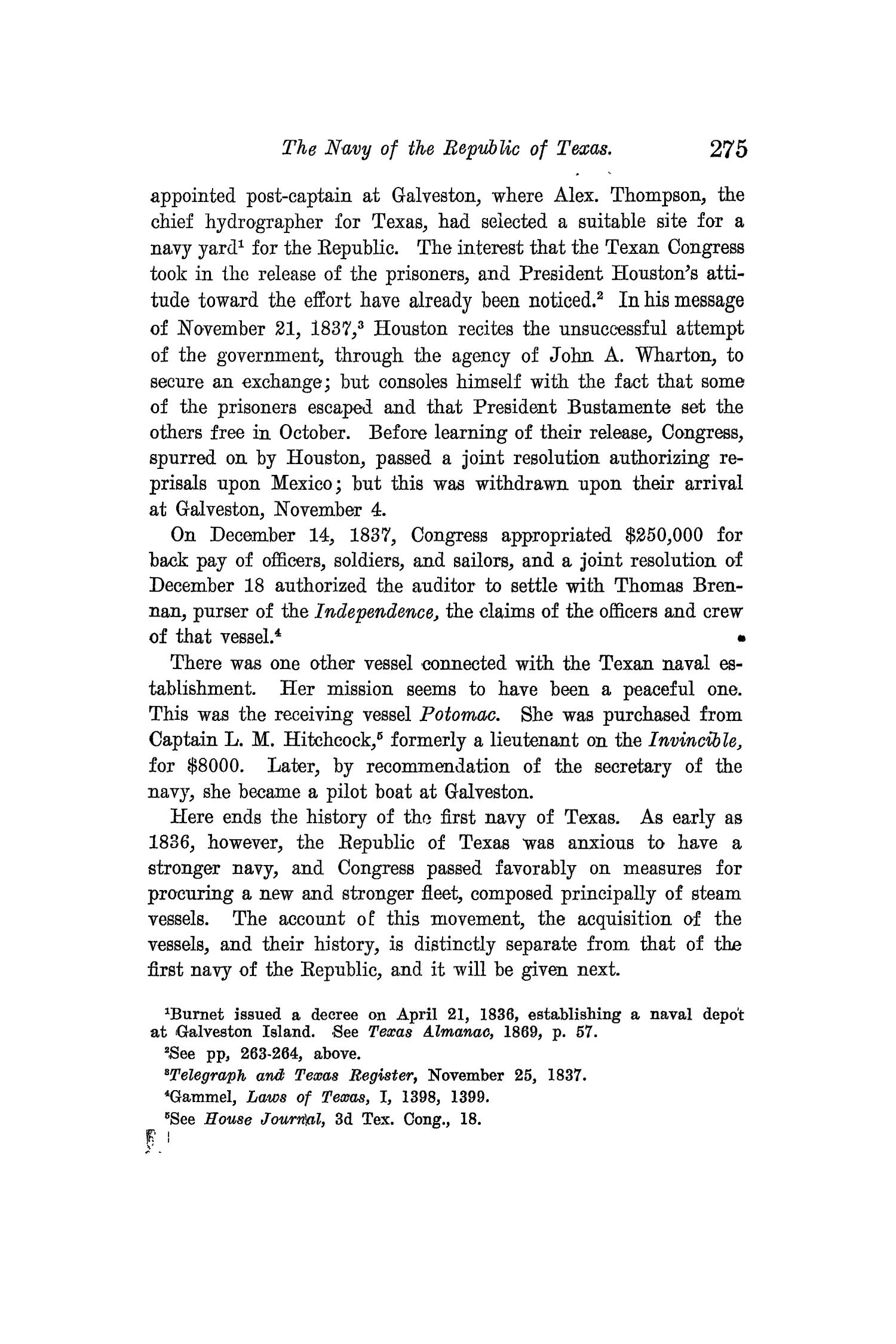The Quarterly of the Texas State Historical Association, Volume 12, July 1908 - April, 1909                                                                                                      275