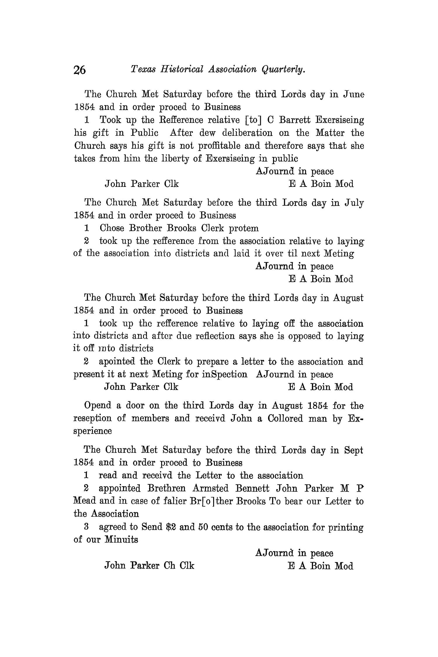 The Quarterly of the Texas State Historical Association, Volume 12, July 1908 - April, 1909                                                                                                      26