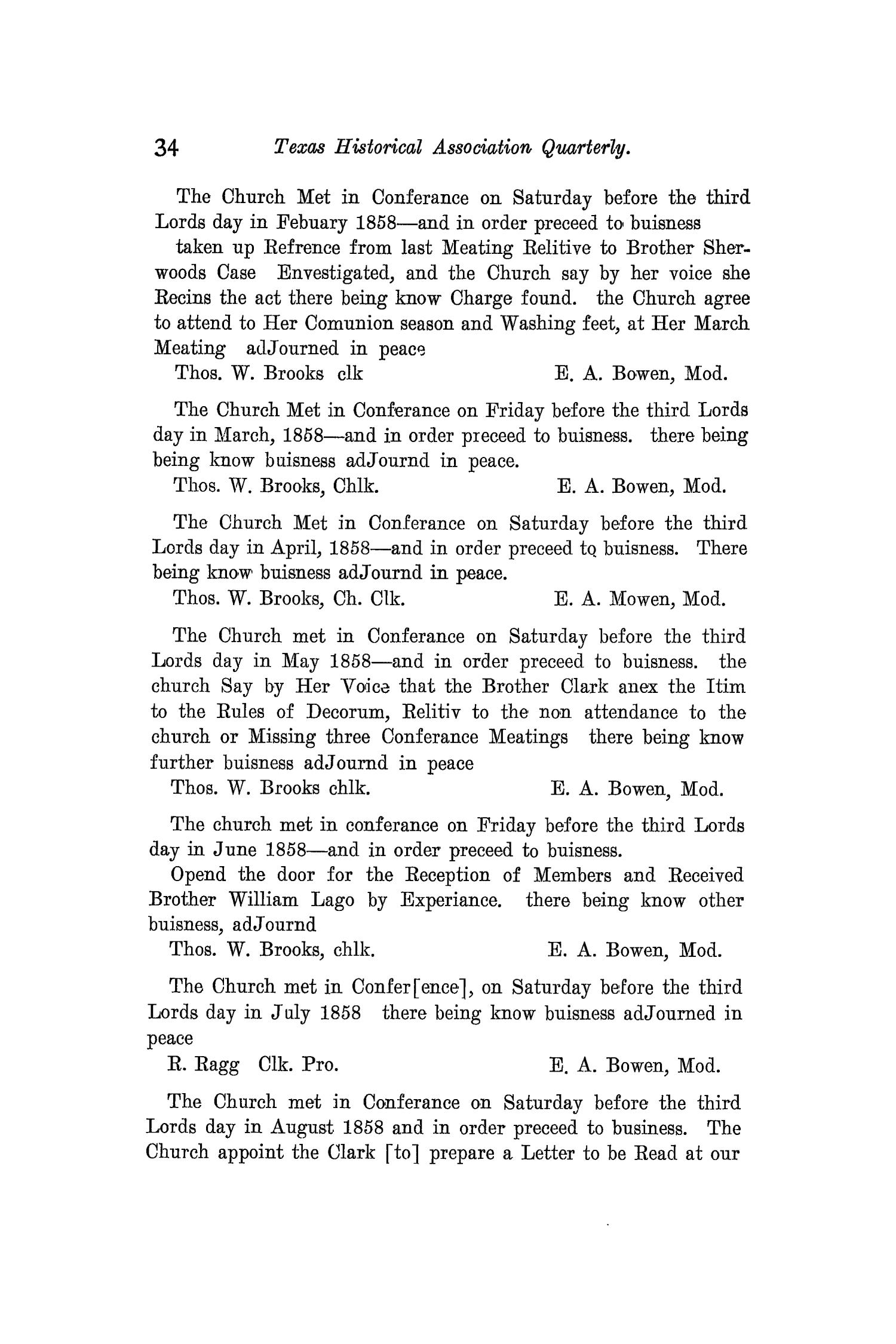 The Quarterly of the Texas State Historical Association, Volume 12, July 1908 - April, 1909                                                                                                      34