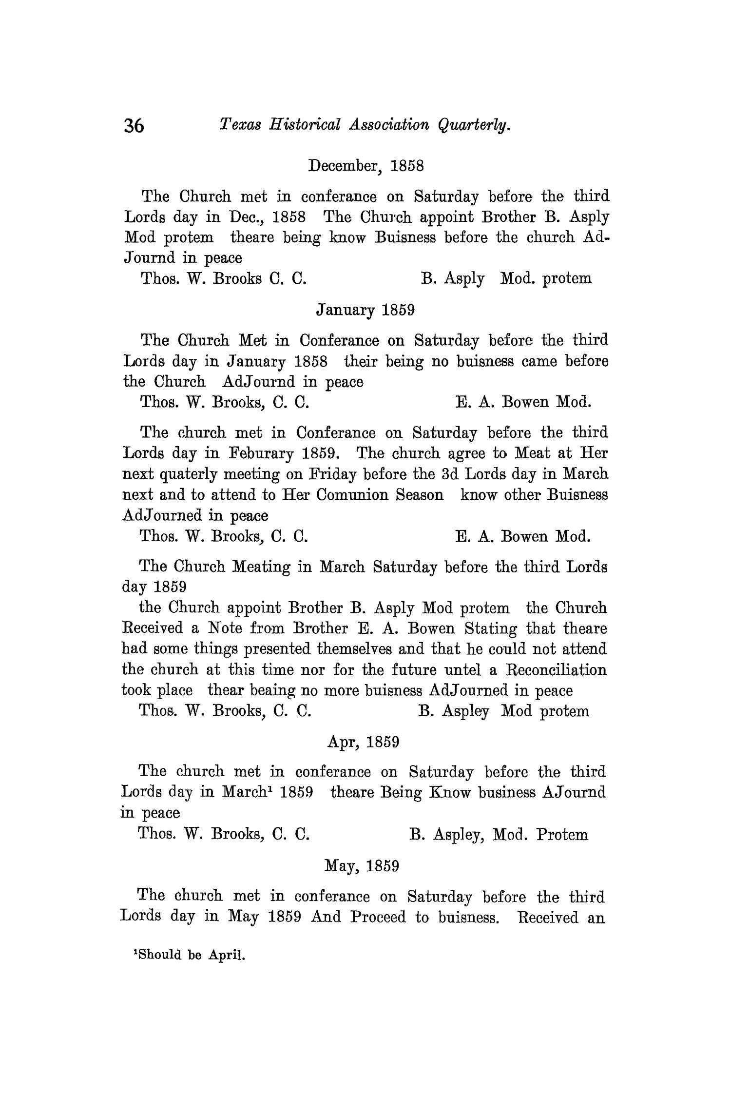 The Quarterly of the Texas State Historical Association, Volume 12, July 1908 - April, 1909                                                                                                      36