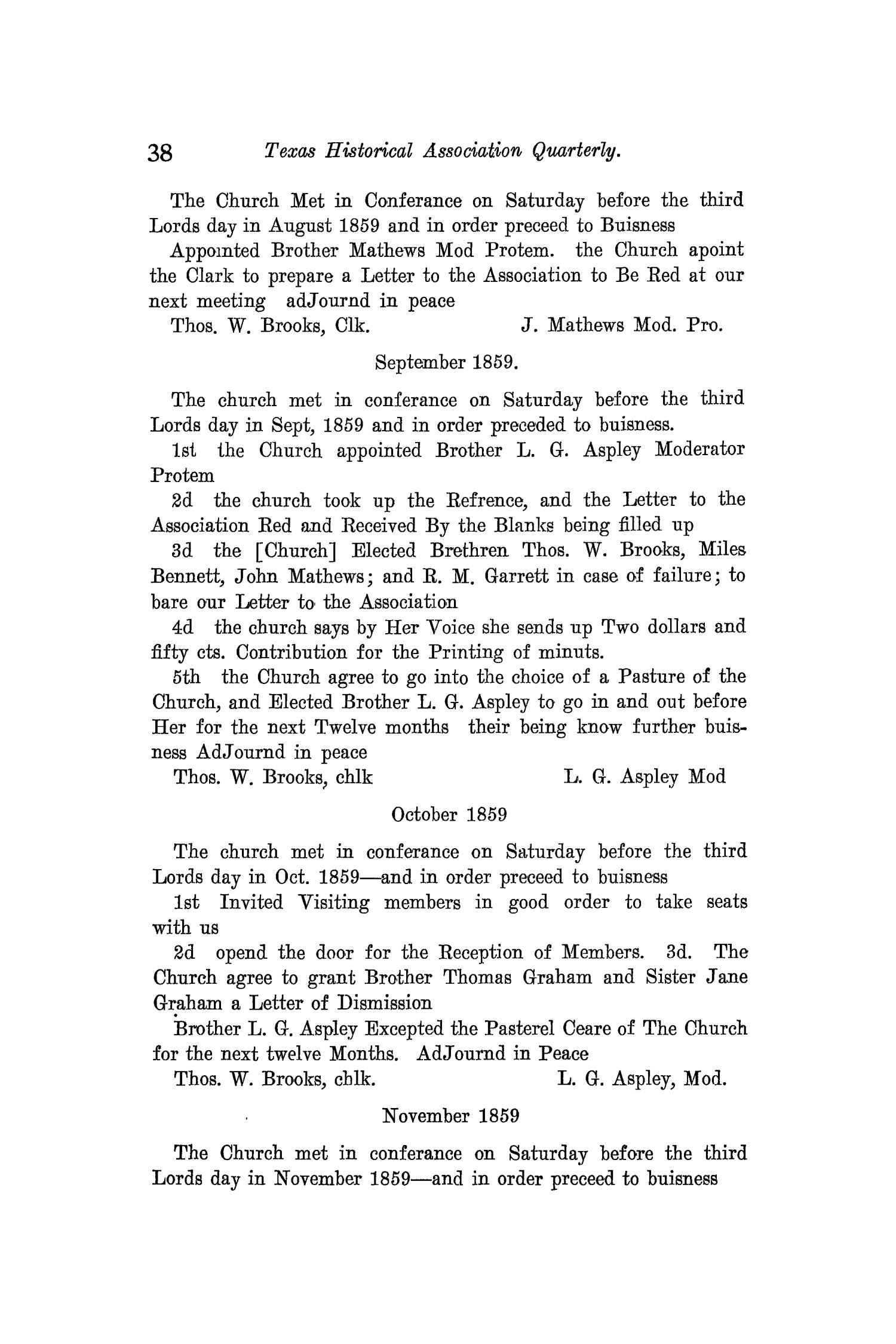 The Quarterly of the Texas State Historical Association, Volume 12, July 1908 - April, 1909                                                                                                      38
