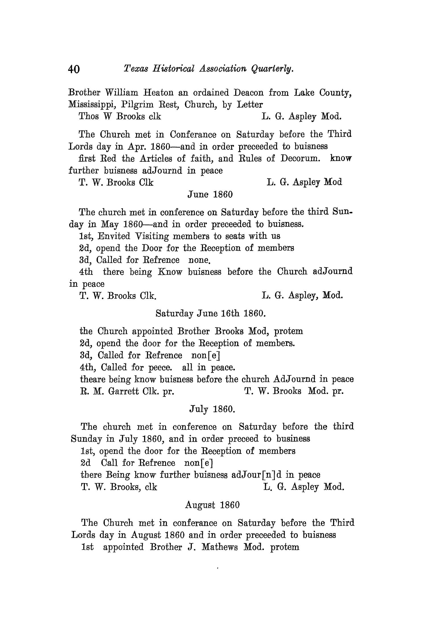 The Quarterly of the Texas State Historical Association, Volume 12, July 1908 - April, 1909                                                                                                      40