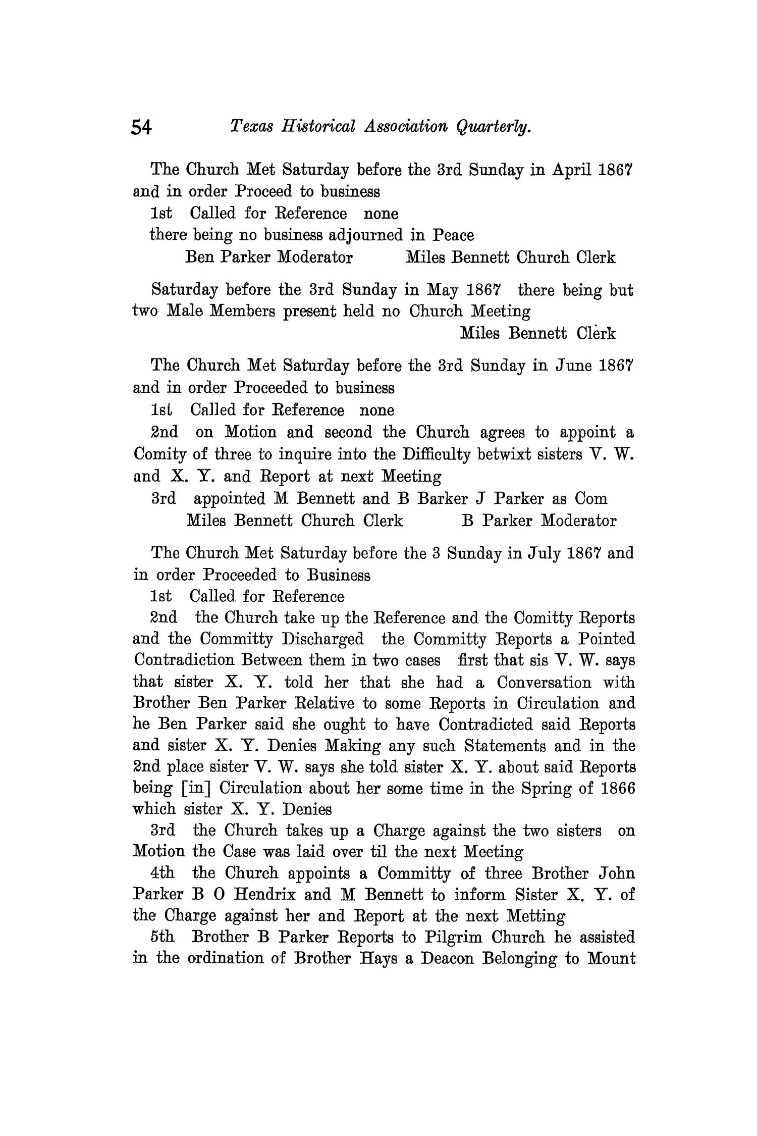 The Quarterly of the Texas State Historical Association, Volume 12, July 1908 - April, 1909                                                                                                      54