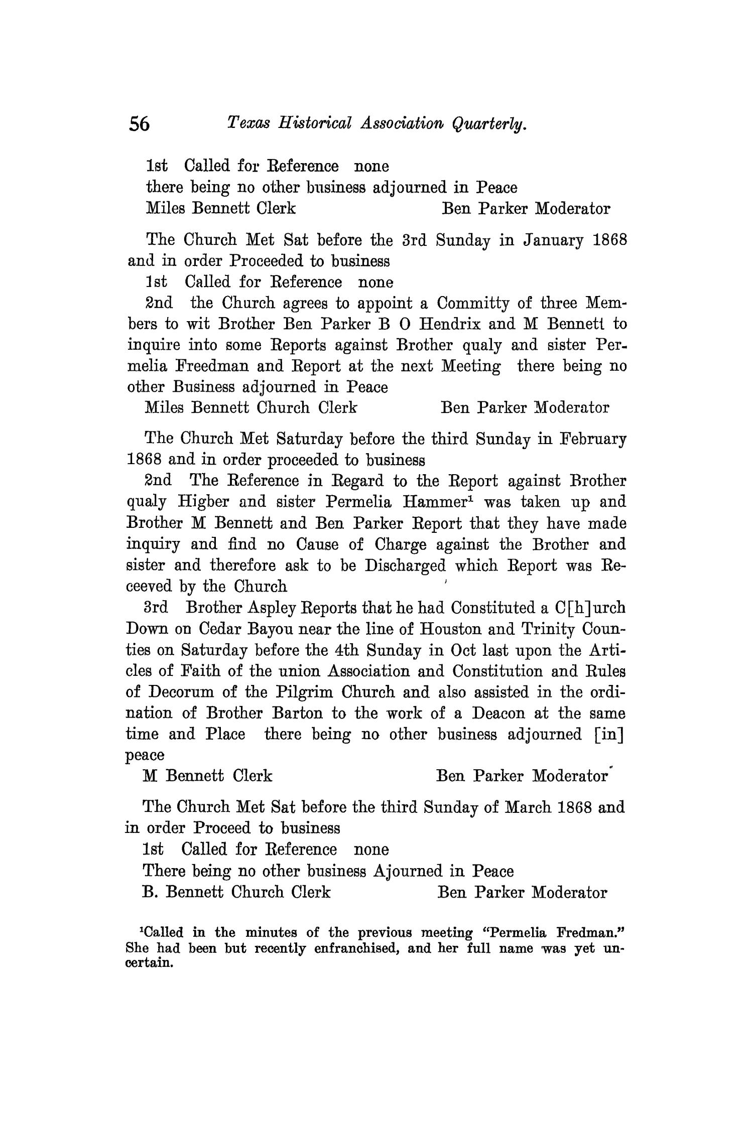 The Quarterly of the Texas State Historical Association, Volume 12, July 1908 - April, 1909                                                                                                      56