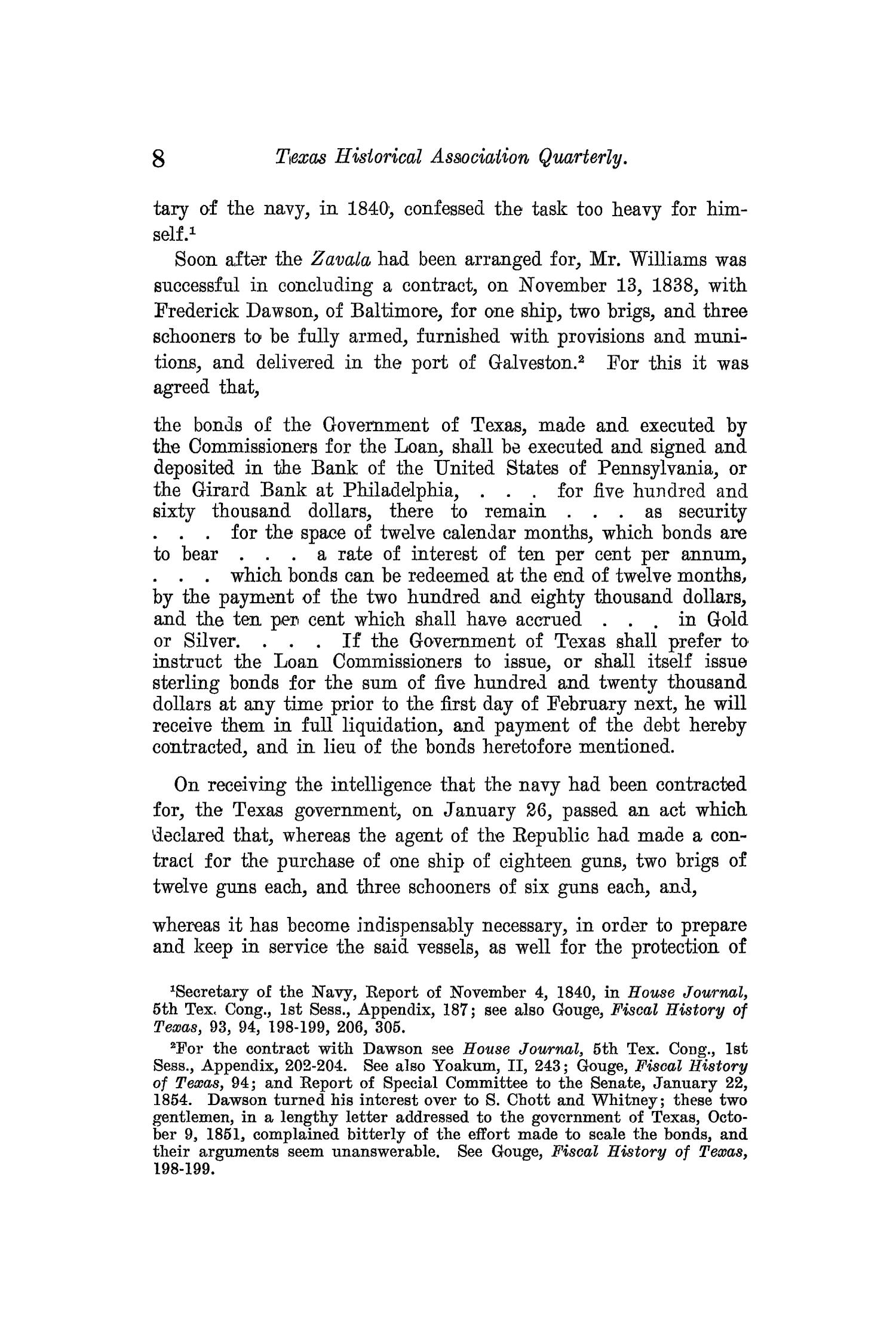 The Quarterly of the Texas State Historical Association, Volume 13, July 1909 - April, 1910                                                                                                      8