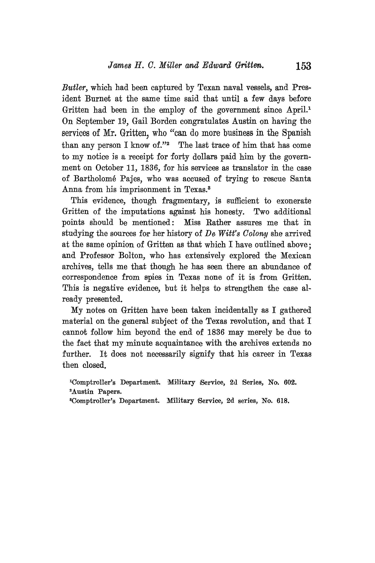 The Quarterly of the Texas State Historical Association, Volume 13, July 1909 - April, 1910                                                                                                      153