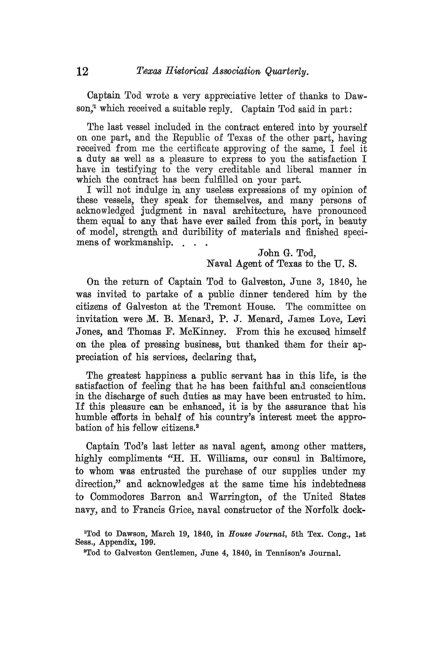 The Quarterly of the Texas State Historical Association, Volume 13, July 1909 - April, 1910                                                                                                      12