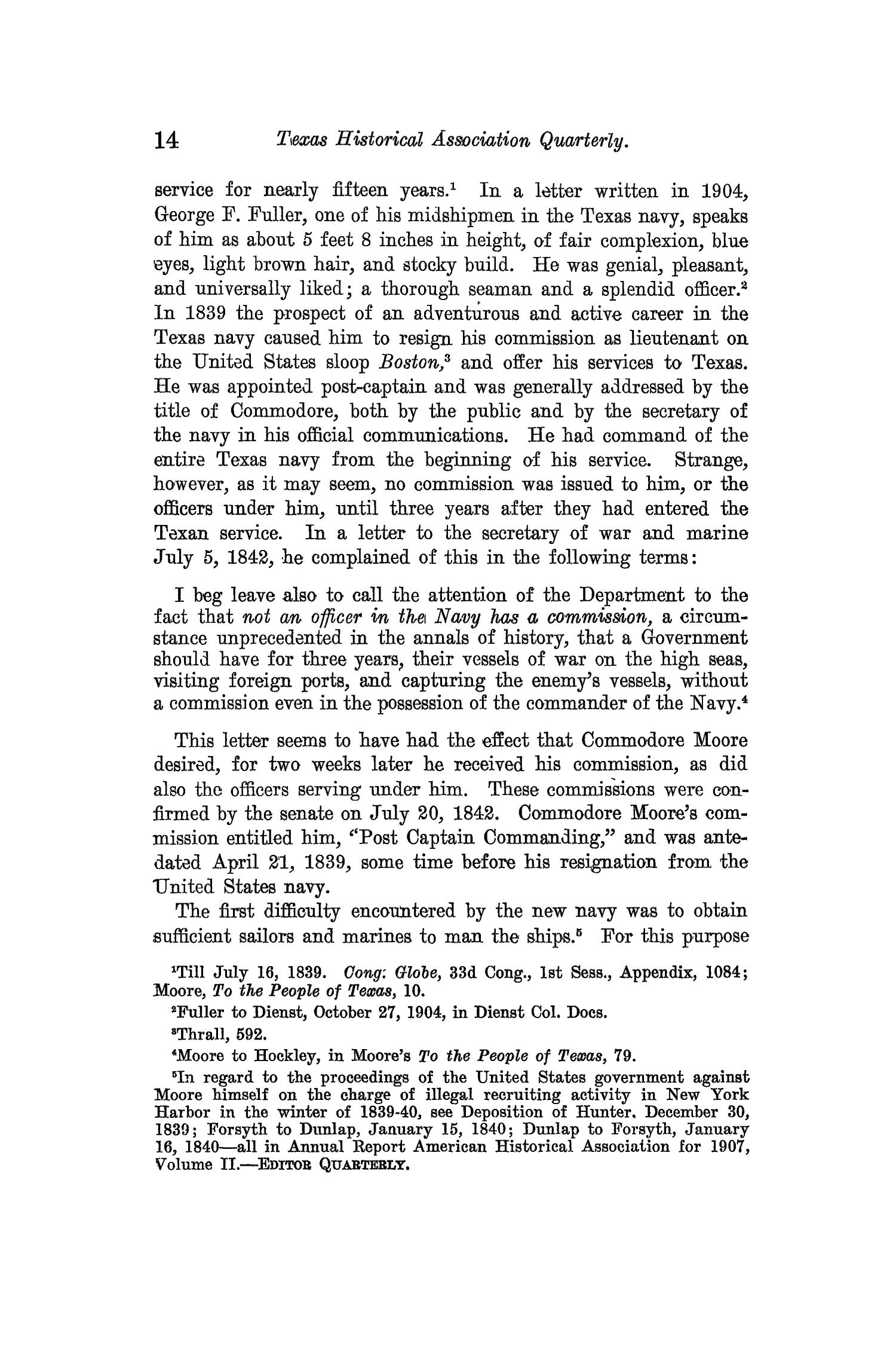 The Quarterly of the Texas State Historical Association, Volume 13, July 1909 - April, 1910                                                                                                      14