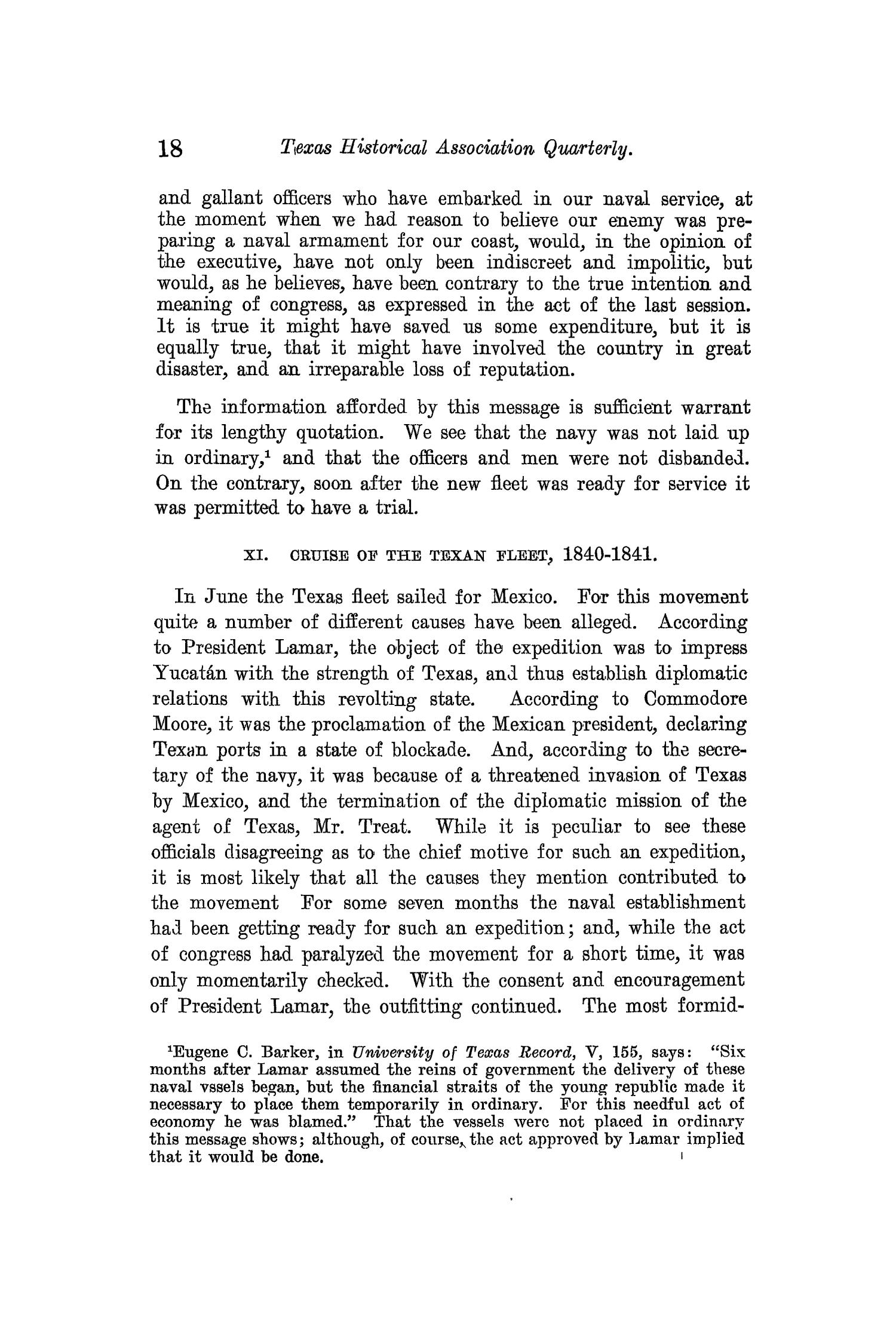 The Quarterly of the Texas State Historical Association, Volume 13, July 1909 - April, 1910                                                                                                      18
