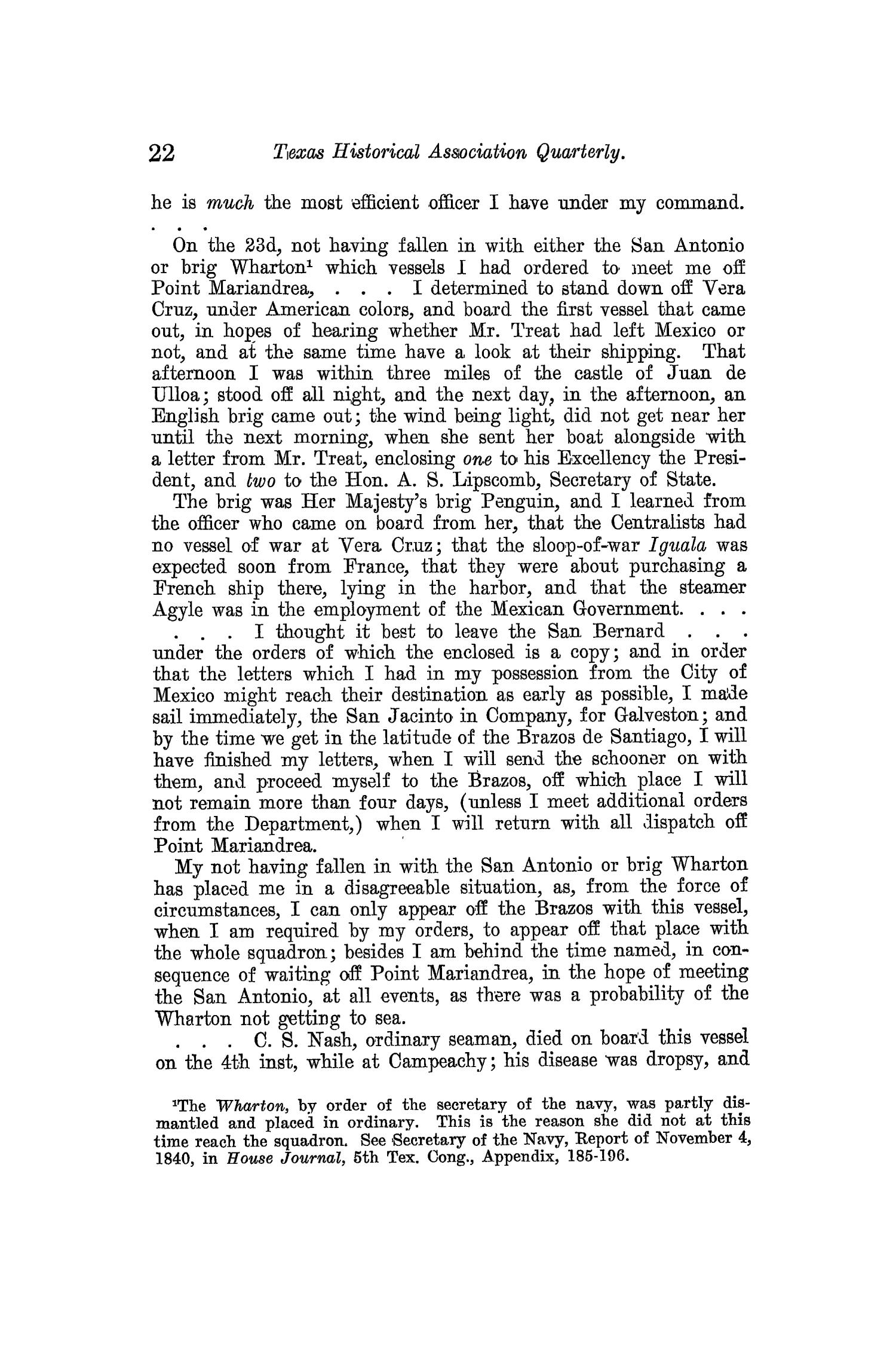 The Quarterly of the Texas State Historical Association, Volume 13, July 1909 - April, 1910                                                                                                      22