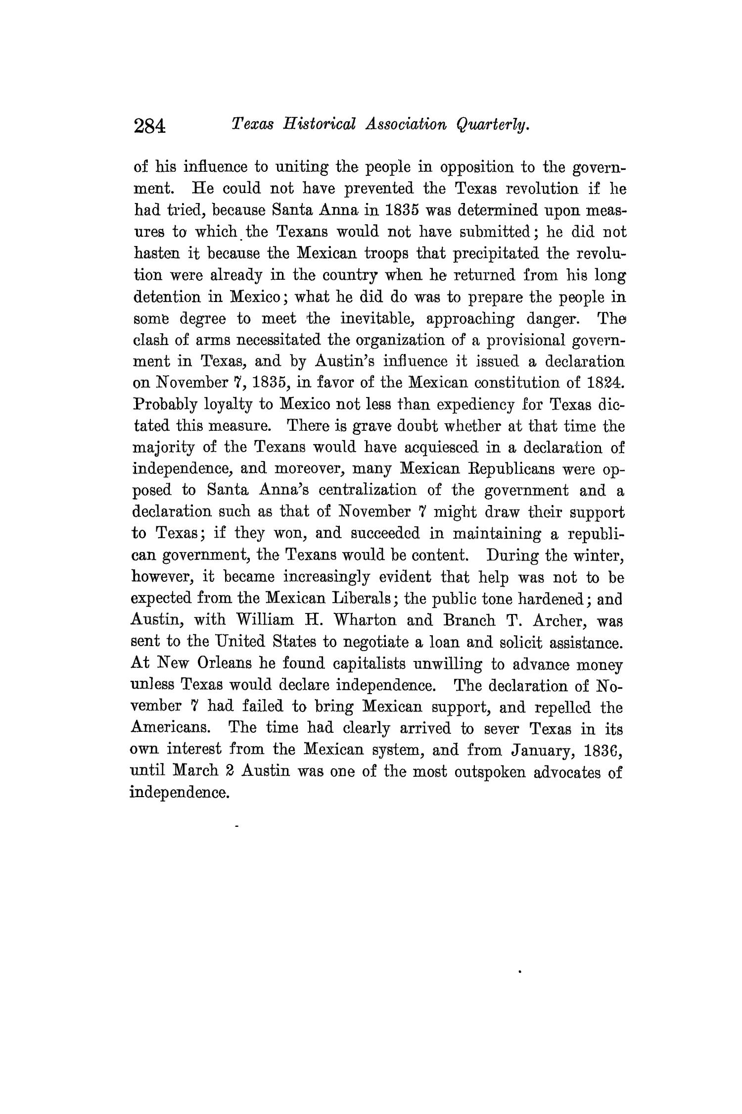 The Quarterly of the Texas State Historical Association, Volume 13, July 1909 - April, 1910                                                                                                      284
