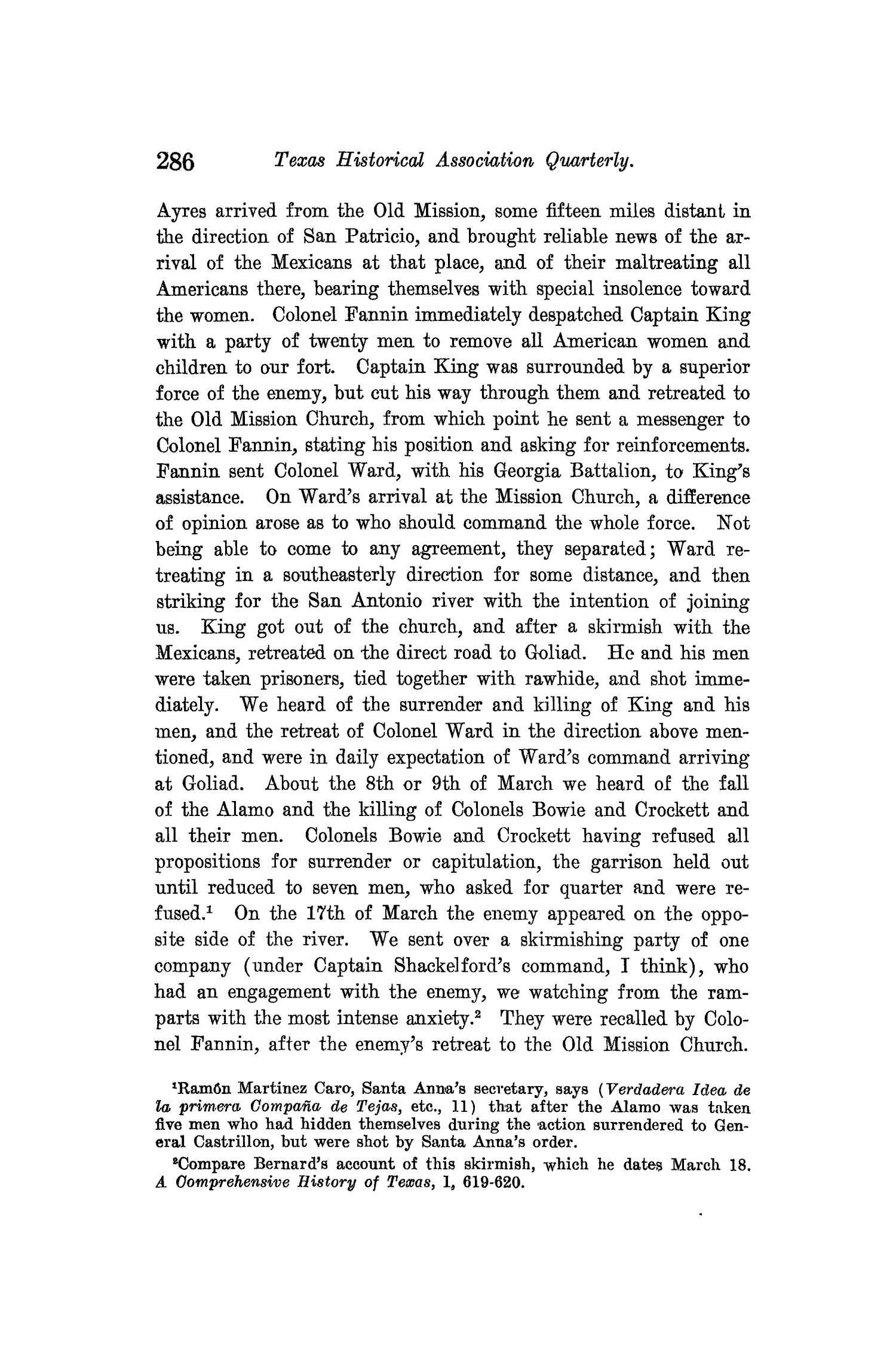 The Quarterly of the Texas State Historical Association, Volume 13, July 1909 - April, 1910                                                                                                      286