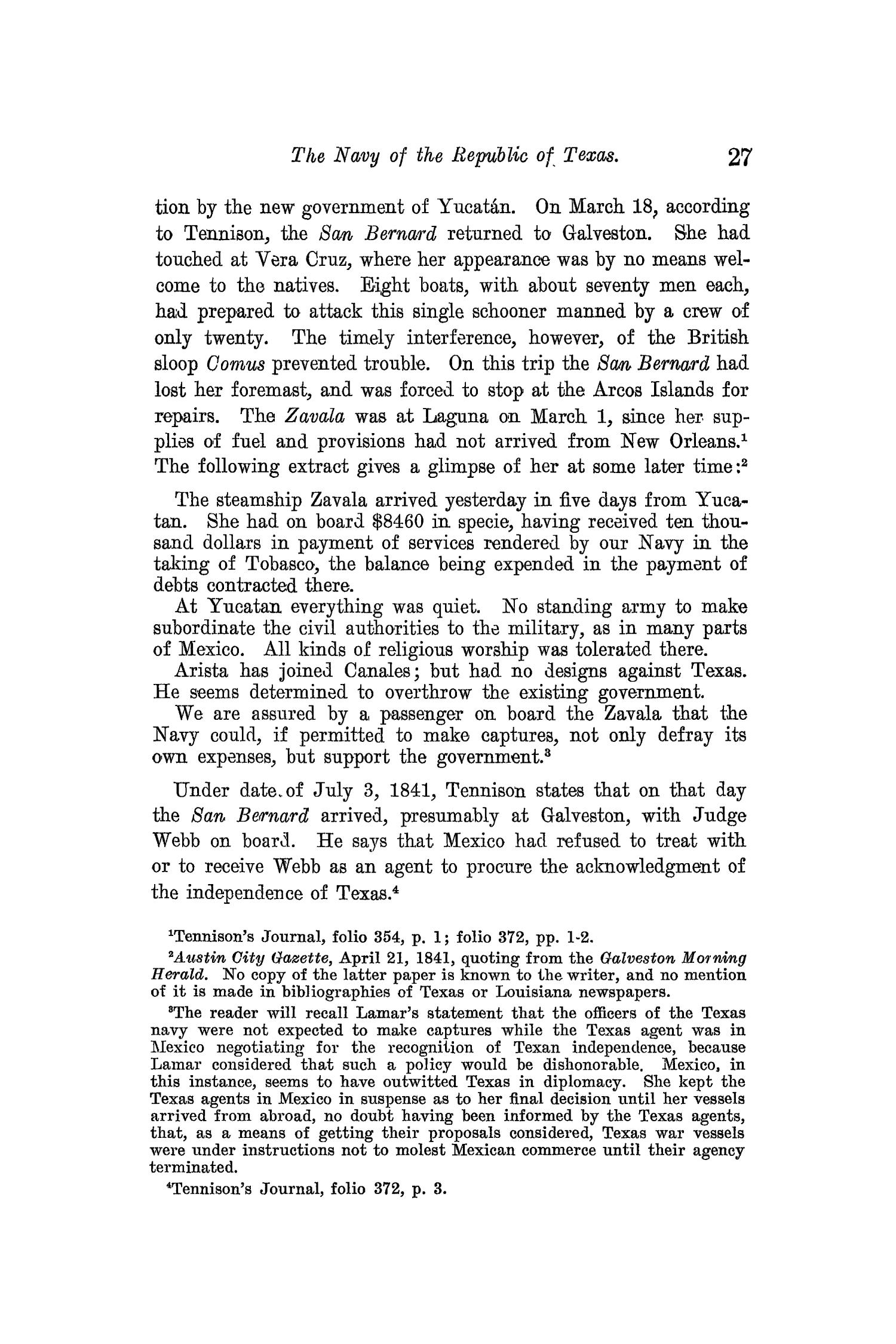The Quarterly of the Texas State Historical Association, Volume 13, July 1909 - April, 1910                                                                                                      27