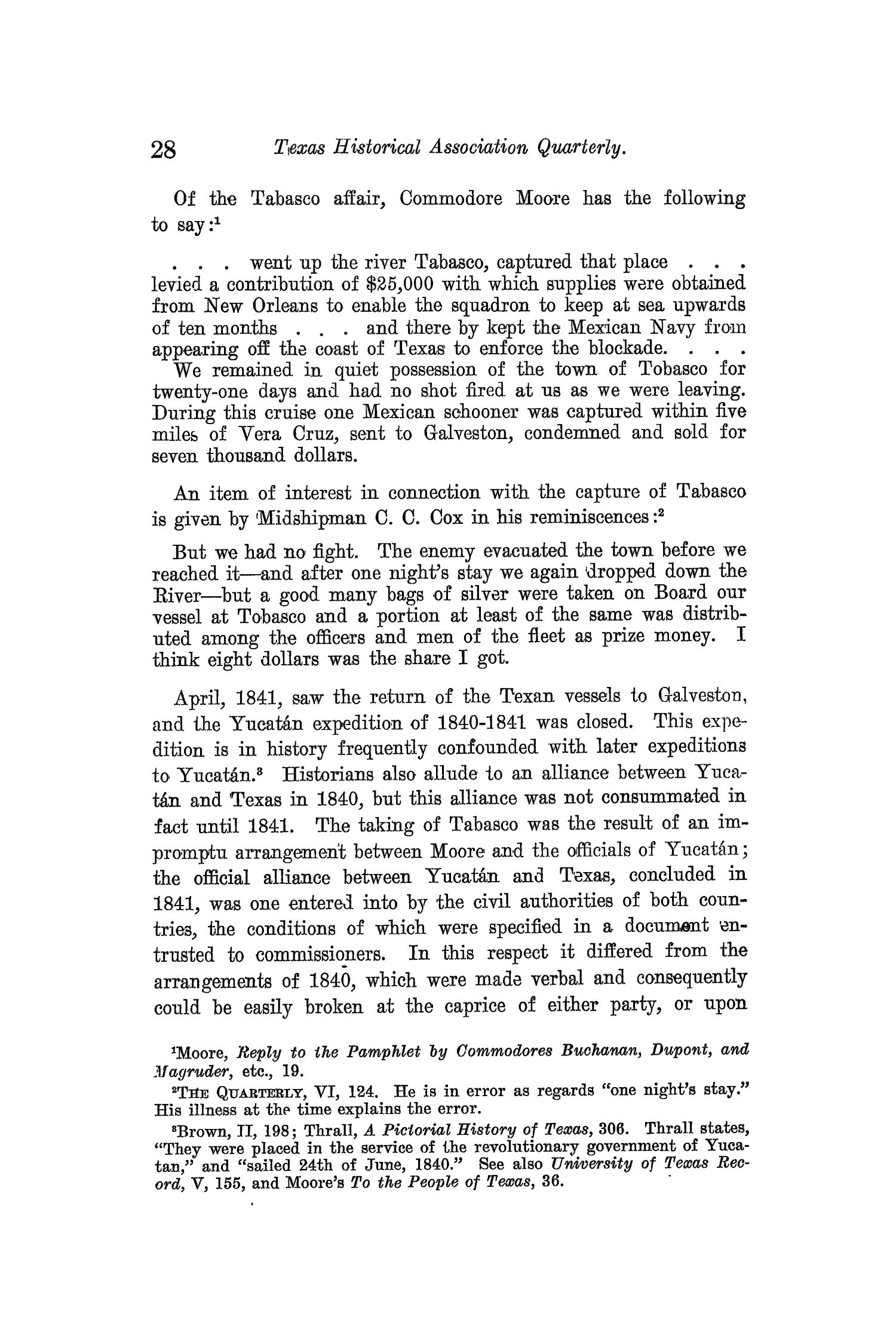 The Quarterly of the Texas State Historical Association, Volume 13, July 1909 - April, 1910                                                                                                      28