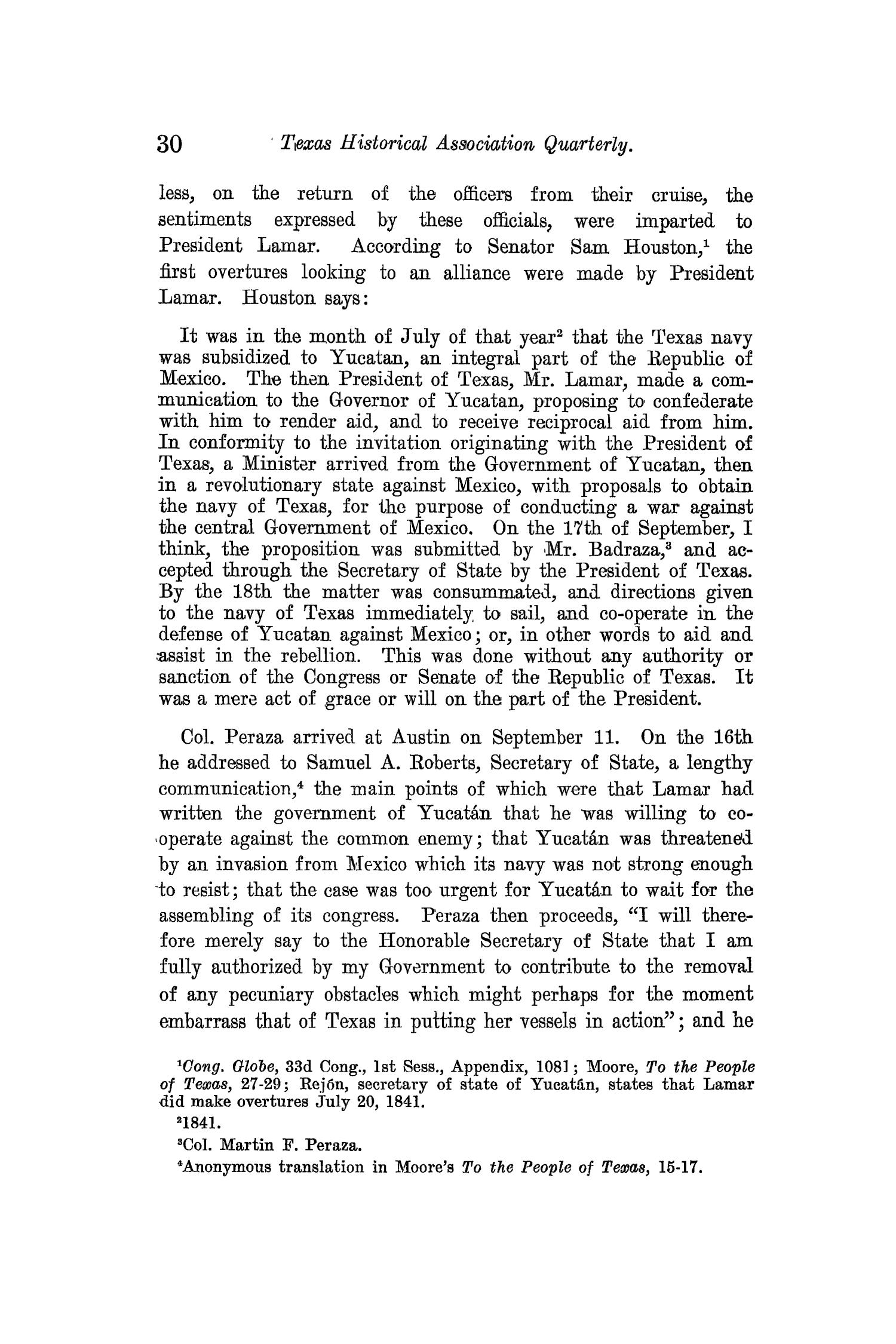 The Quarterly of the Texas State Historical Association, Volume 13, July 1909 - April, 1910                                                                                                      30