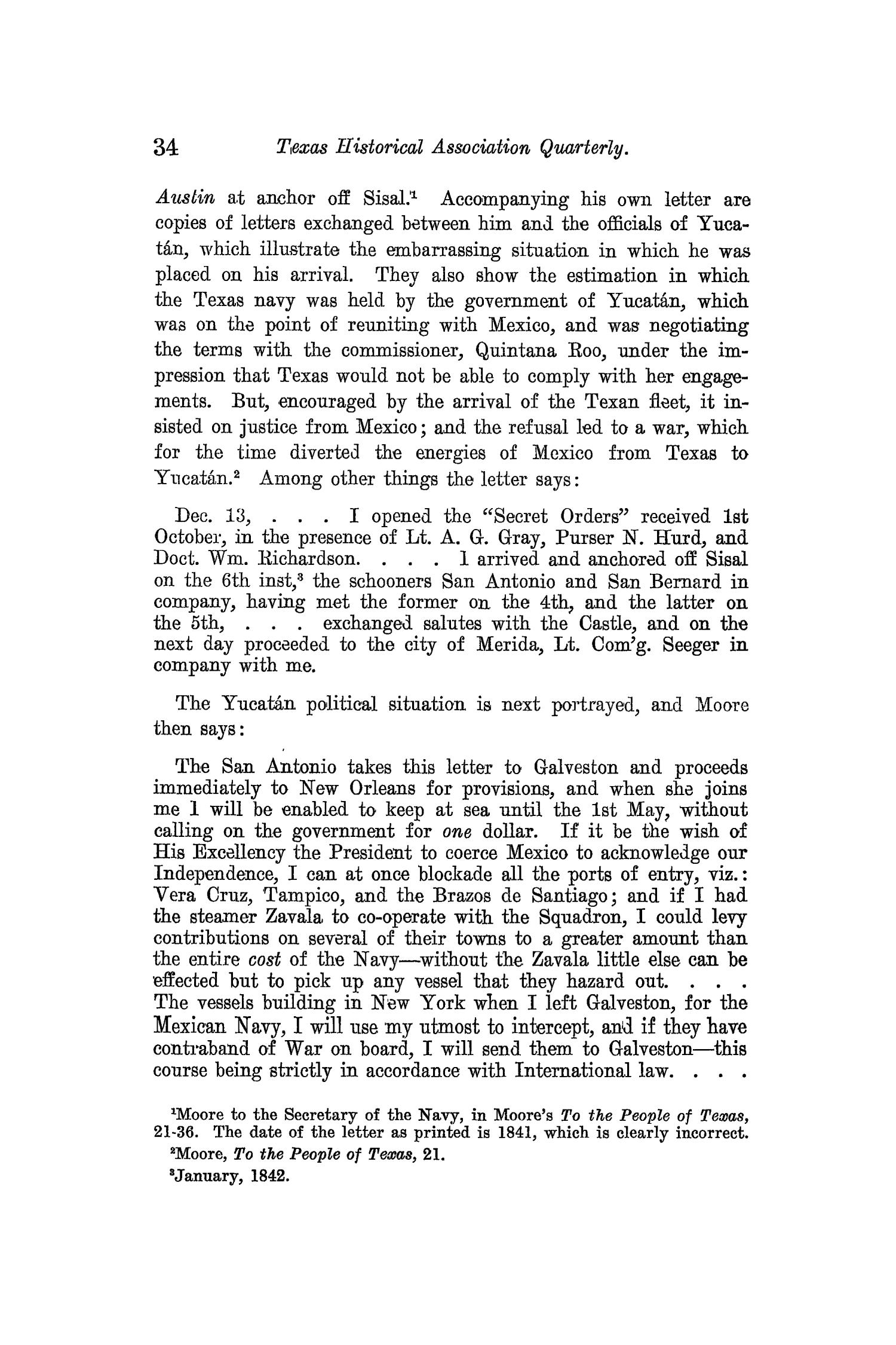 The Quarterly of the Texas State Historical Association, Volume 13, July 1909 - April, 1910                                                                                                      34