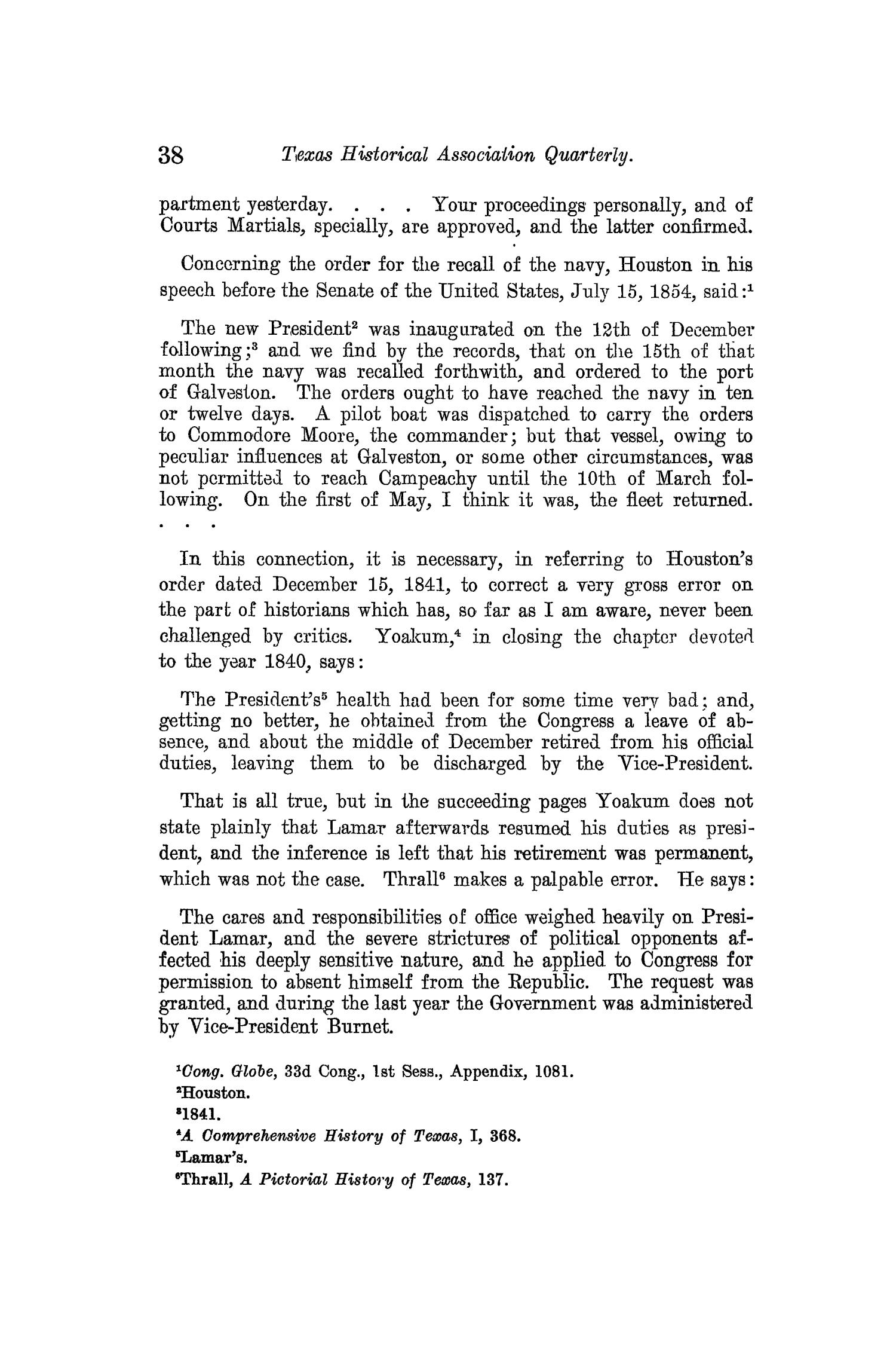 The Quarterly of the Texas State Historical Association, Volume 13, July 1909 - April, 1910                                                                                                      38