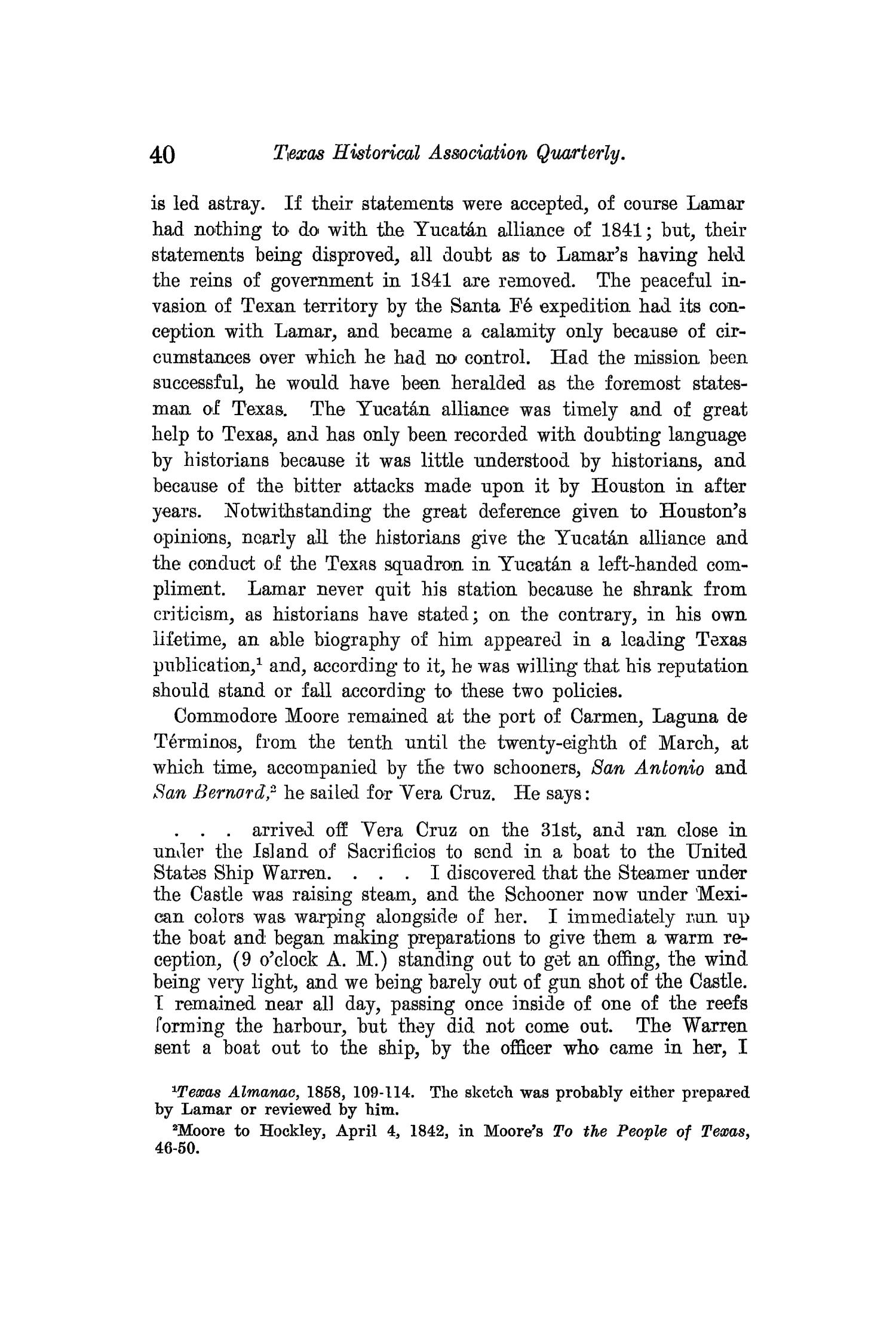 The Quarterly of the Texas State Historical Association, Volume 13, July 1909 - April, 1910                                                                                                      40