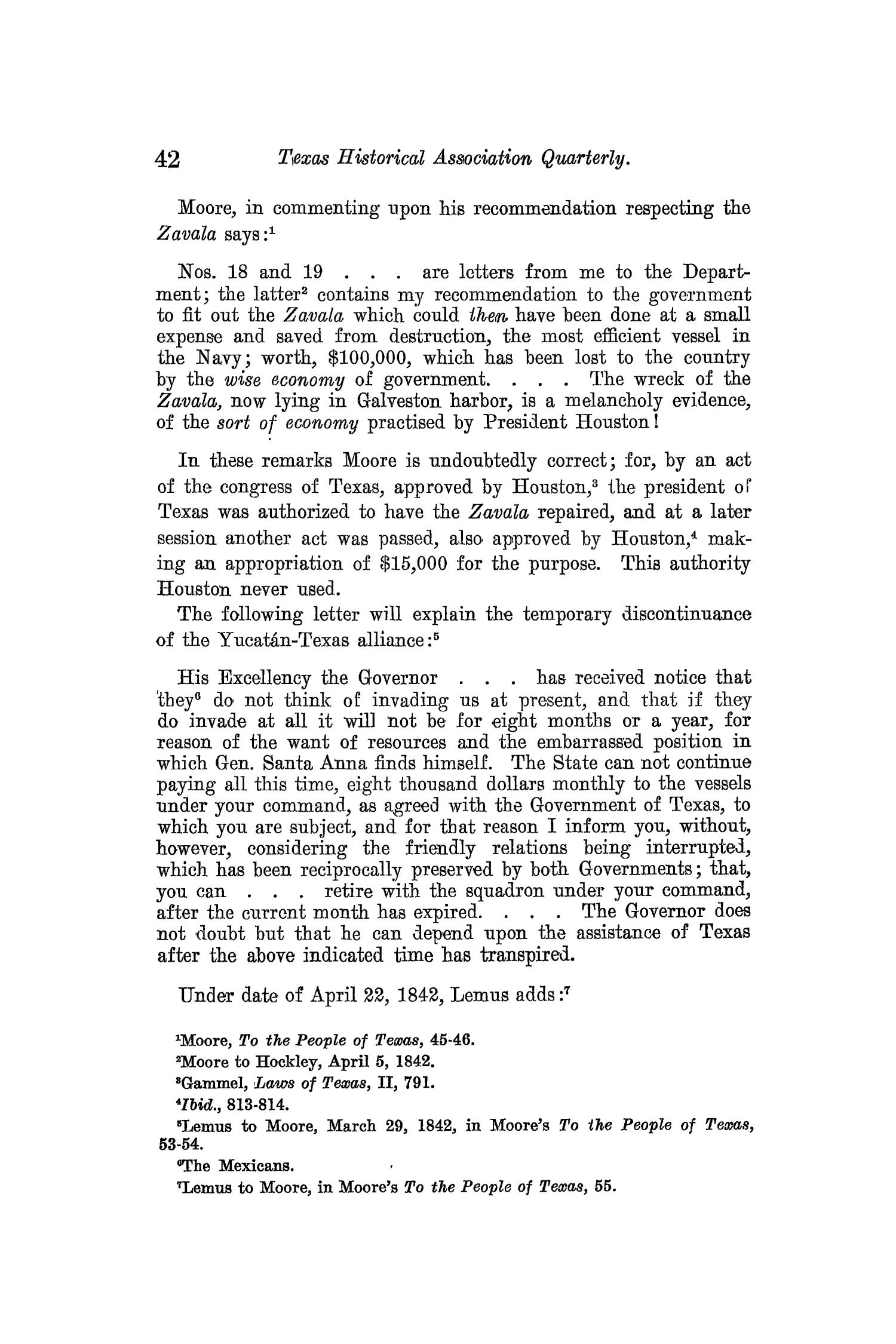 The Quarterly of the Texas State Historical Association, Volume 13, July 1909 - April, 1910                                                                                                      42