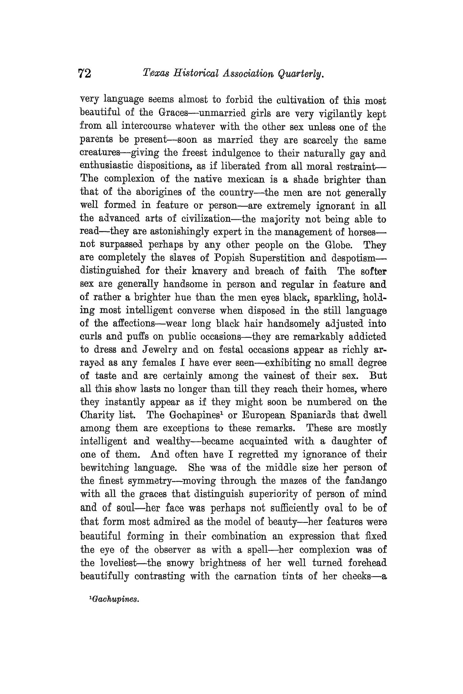 The Quarterly of the Texas State Historical Association, Volume 13, July 1909 - April, 1910                                                                                                      72
