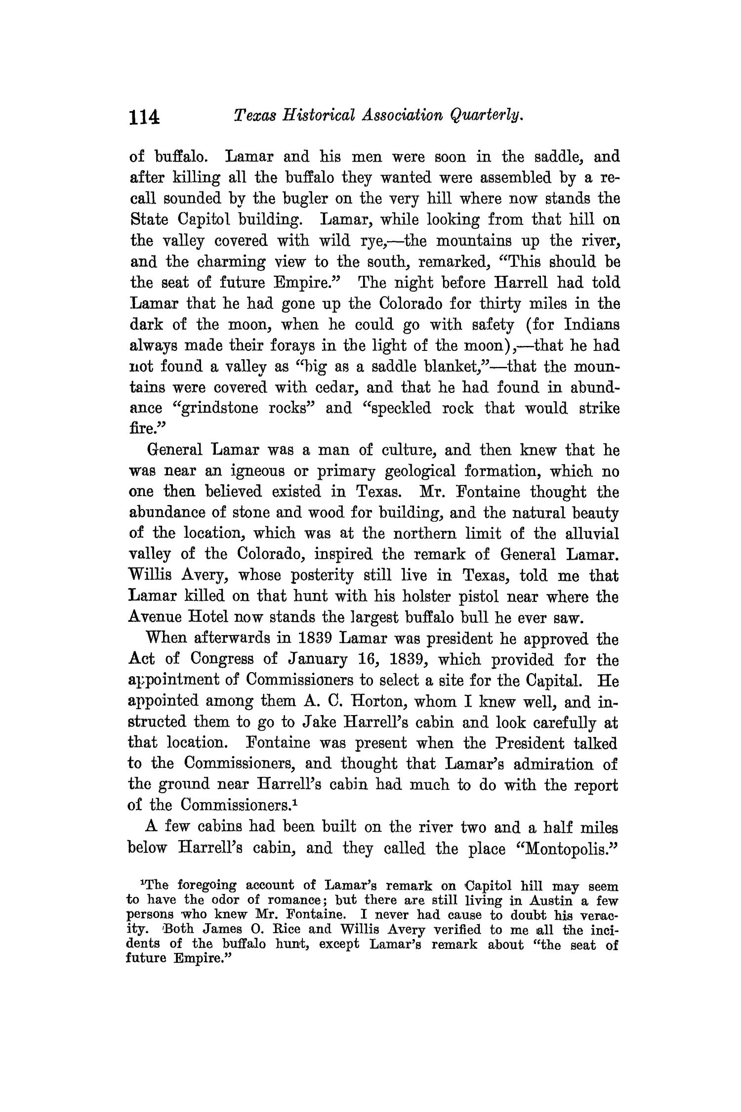 The Quarterly of the Texas State Historical Association, Volume 14, July 1910 - April, 1911                                                                                                      114