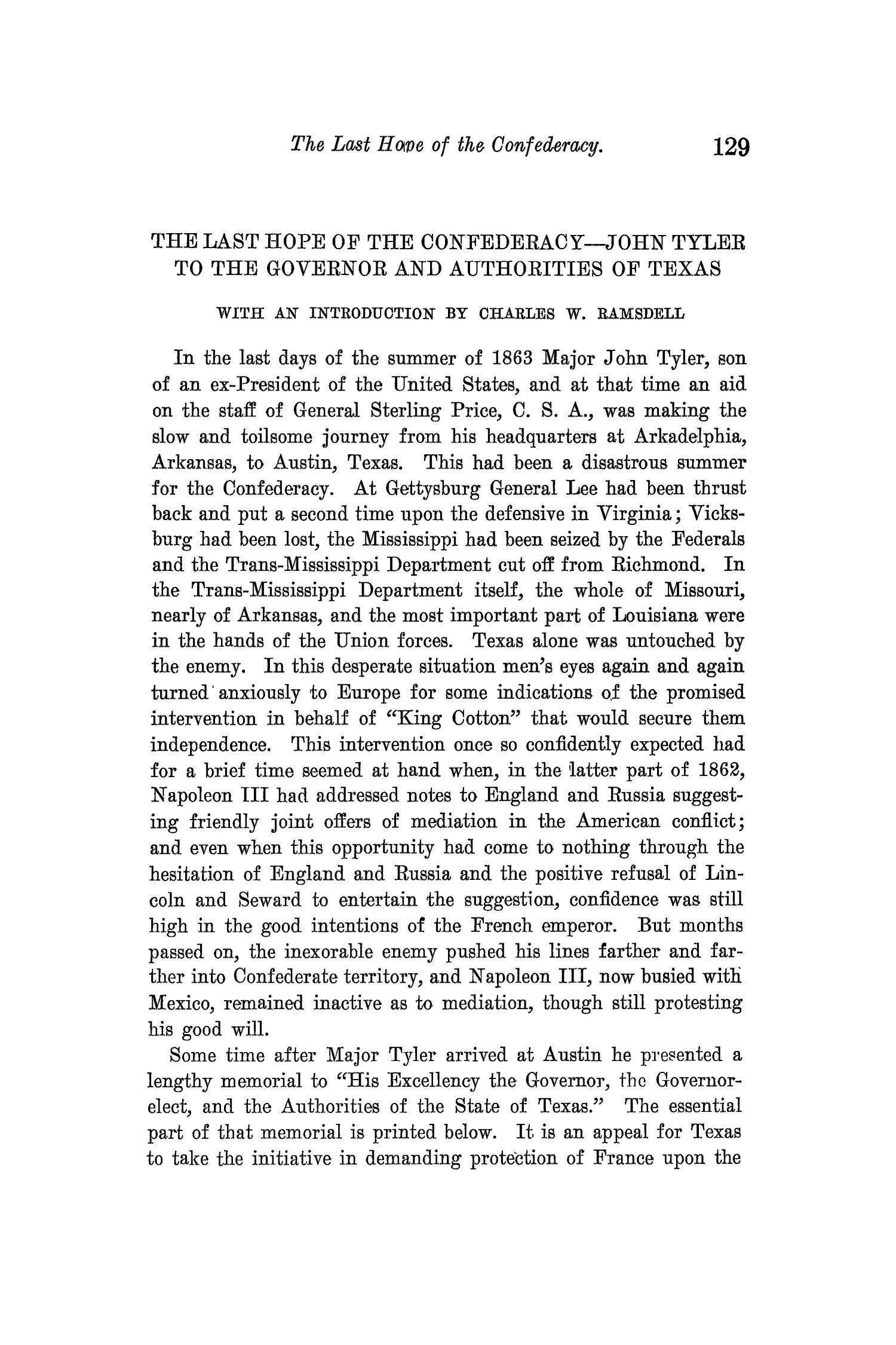 The Quarterly of the Texas State Historical Association, Volume 14, July 1910 - April, 1911                                                                                                      129