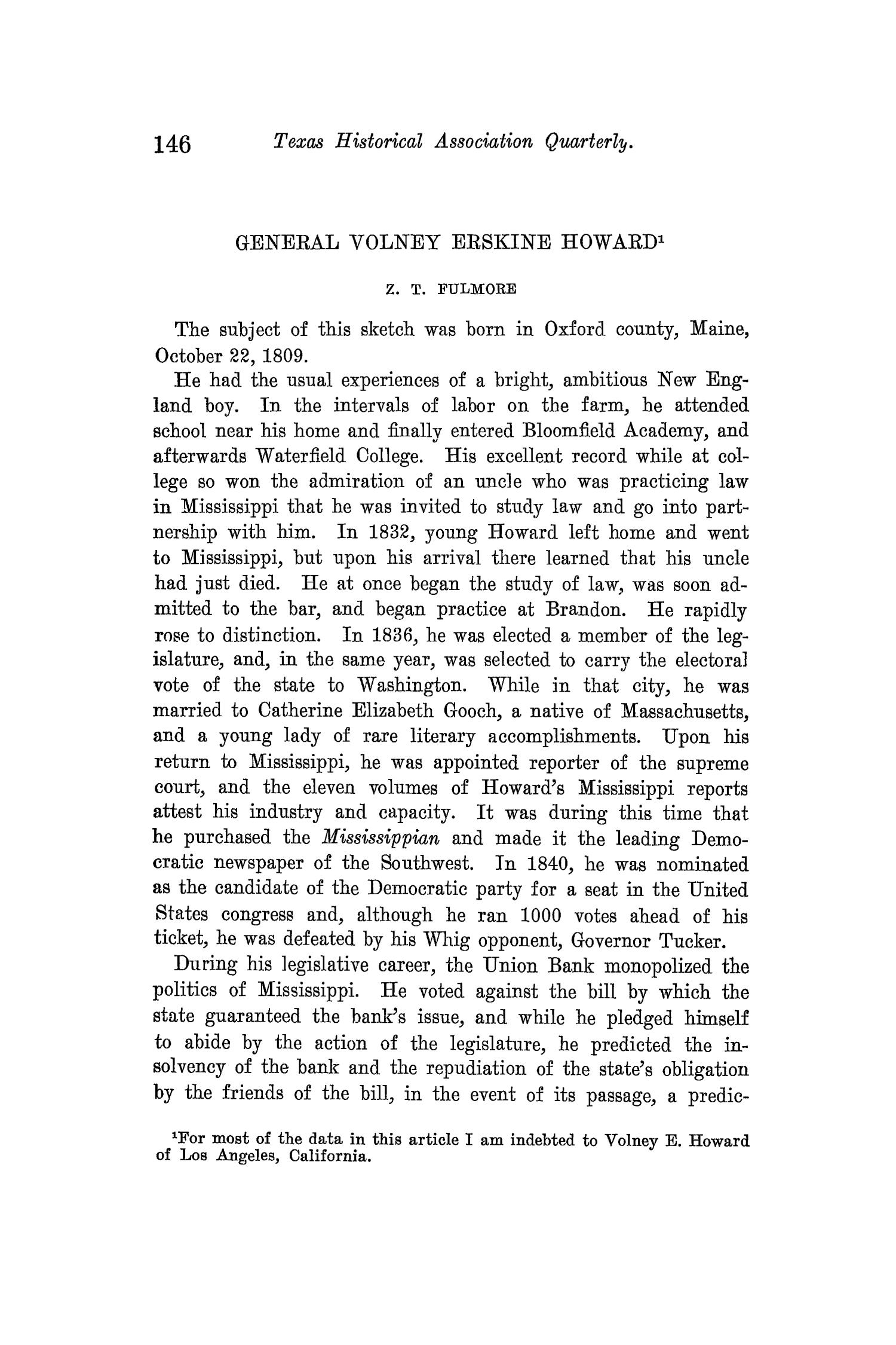 The Quarterly of the Texas State Historical Association, Volume 14, July 1910 - April, 1911                                                                                                      146