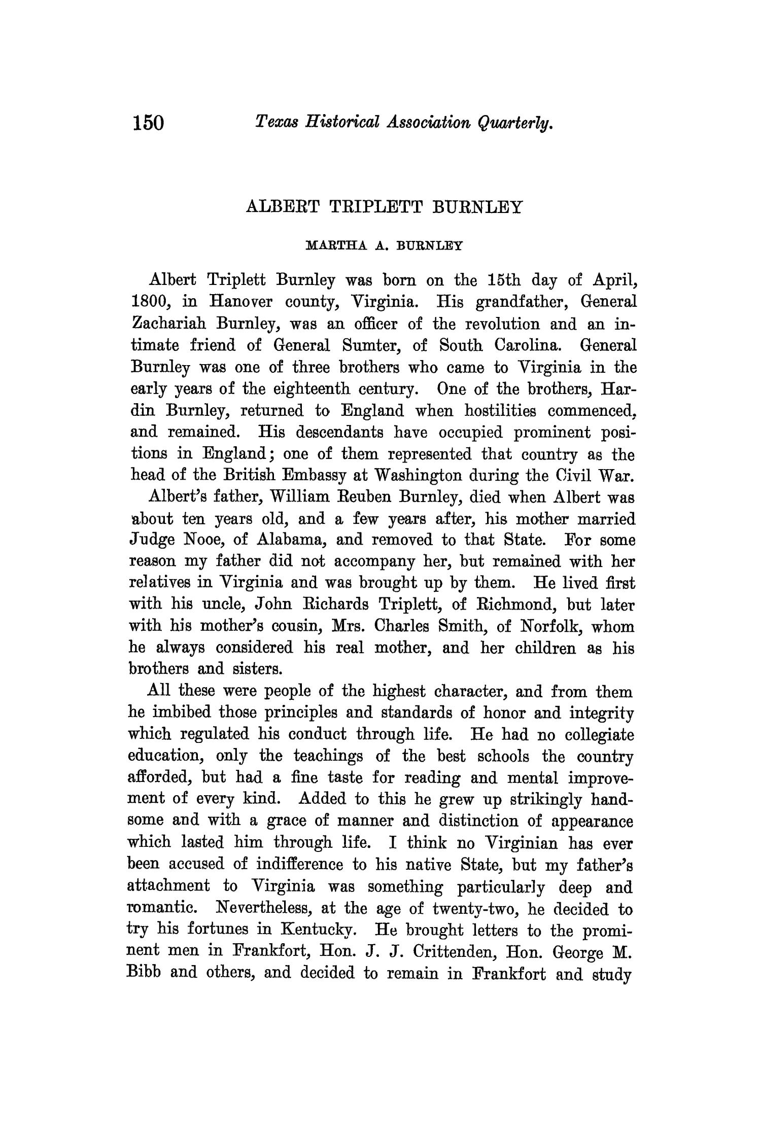 The Quarterly of the Texas State Historical Association, Volume 14, July 1910 - April, 1911                                                                                                      150