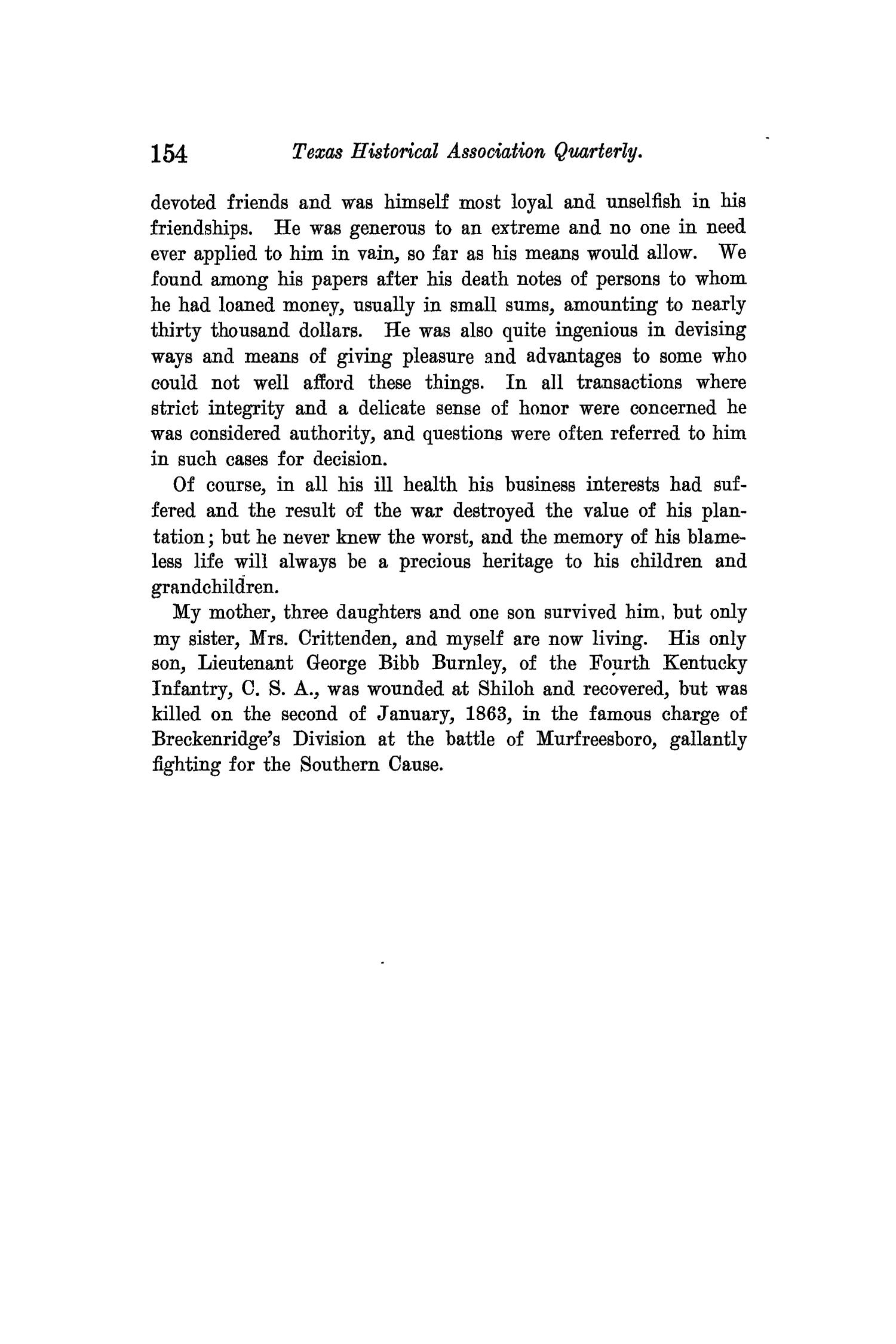The Quarterly of the Texas State Historical Association, Volume 14, July 1910 - April, 1911                                                                                                      154