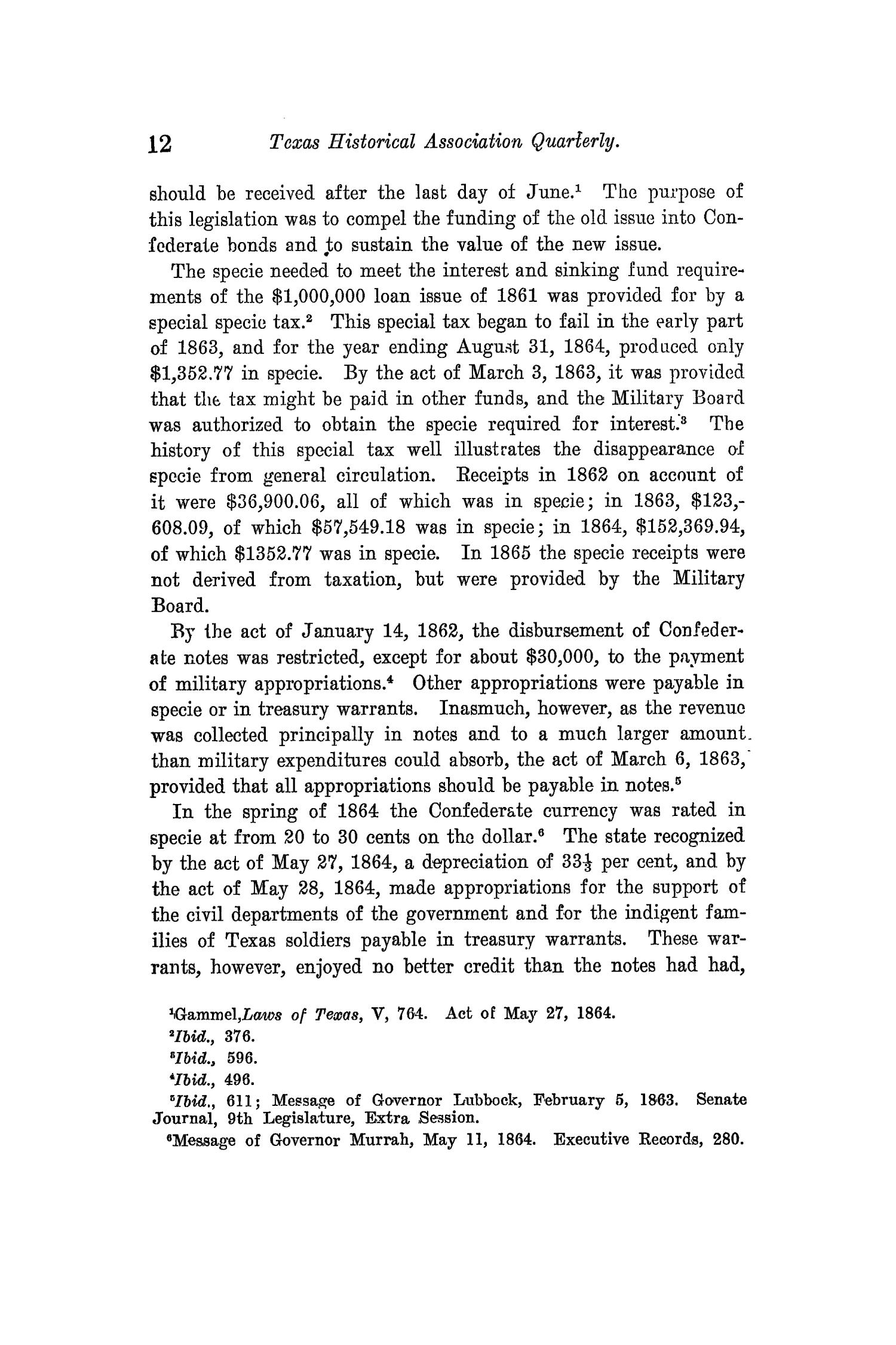 The Quarterly of the Texas State Historical Association, Volume 14, July 1910 - April, 1911                                                                                                      12