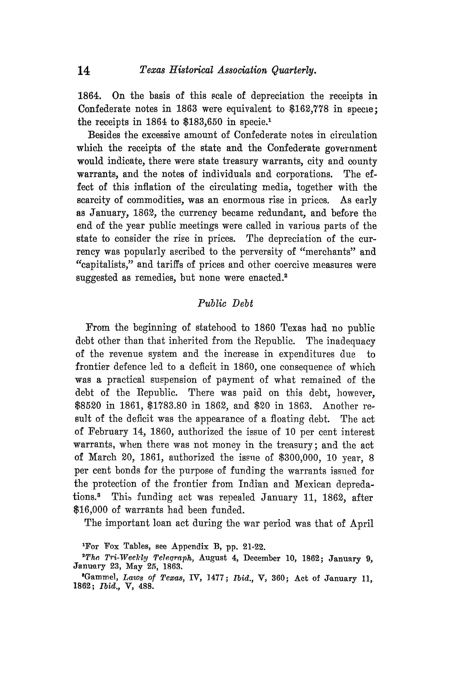 The Quarterly of the Texas State Historical Association, Volume 14, July 1910 - April, 1911                                                                                                      14