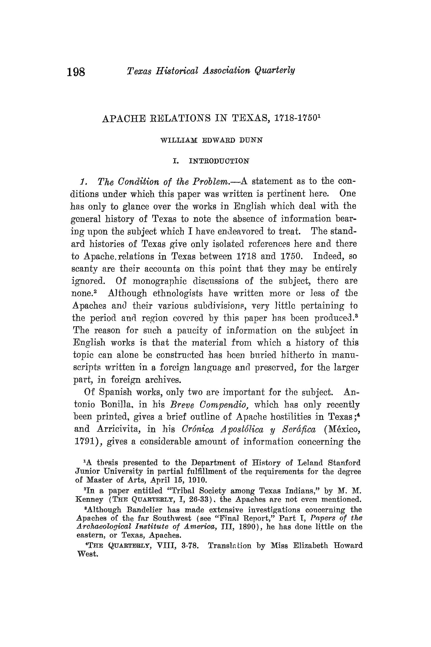 The Quarterly of the Texas State Historical Association, Volume 14, July 1910 - April, 1911                                                                                                      198