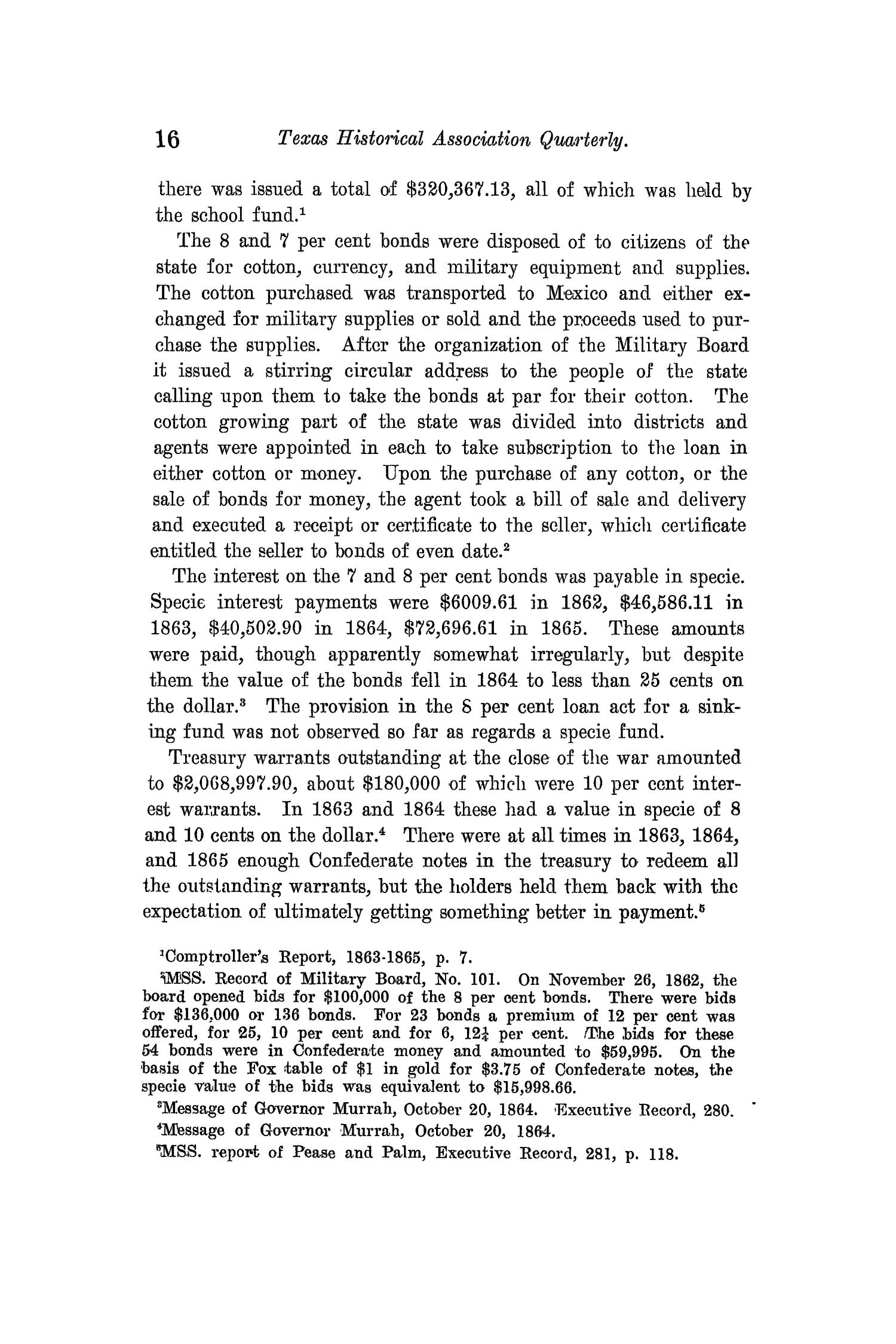 The Quarterly of the Texas State Historical Association, Volume 14, July 1910 - April, 1911                                                                                                      16