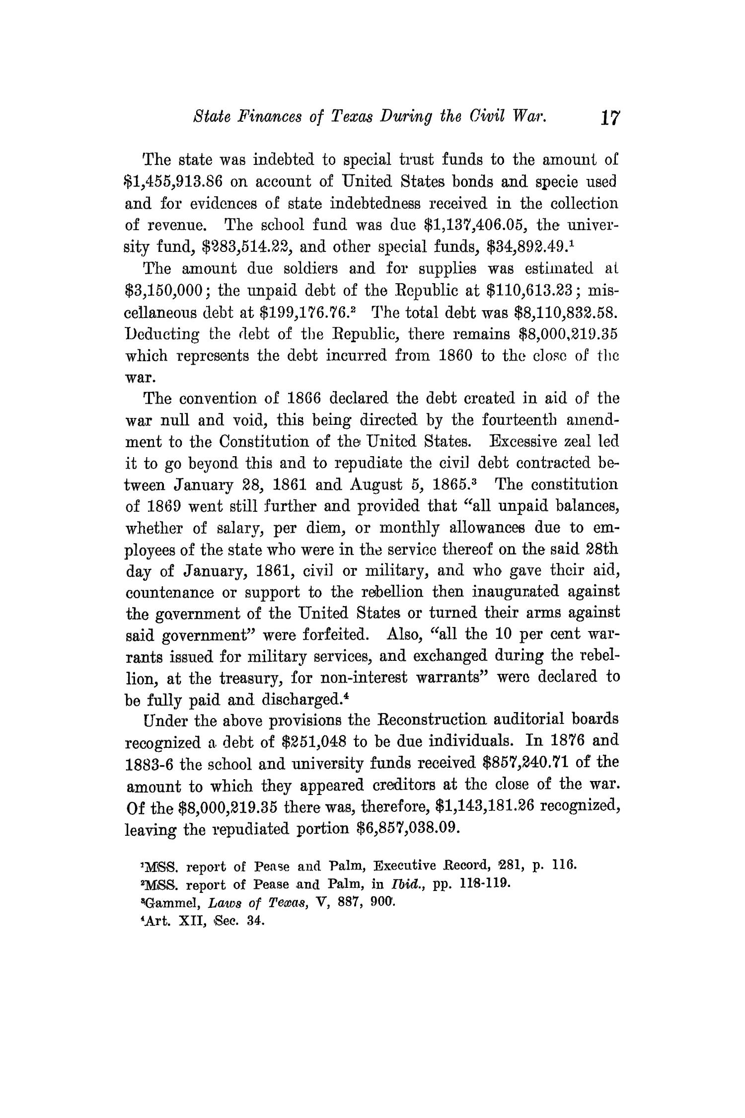 The Quarterly of the Texas State Historical Association, Volume 14, July 1910 - April, 1911                                                                                                      17
