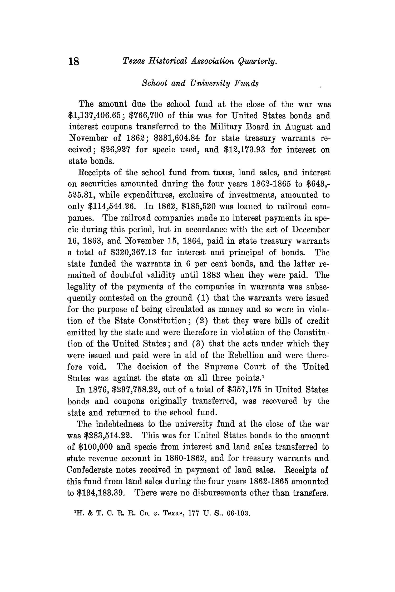 The Quarterly of the Texas State Historical Association, Volume 14, July 1910 - April, 1911                                                                                                      18