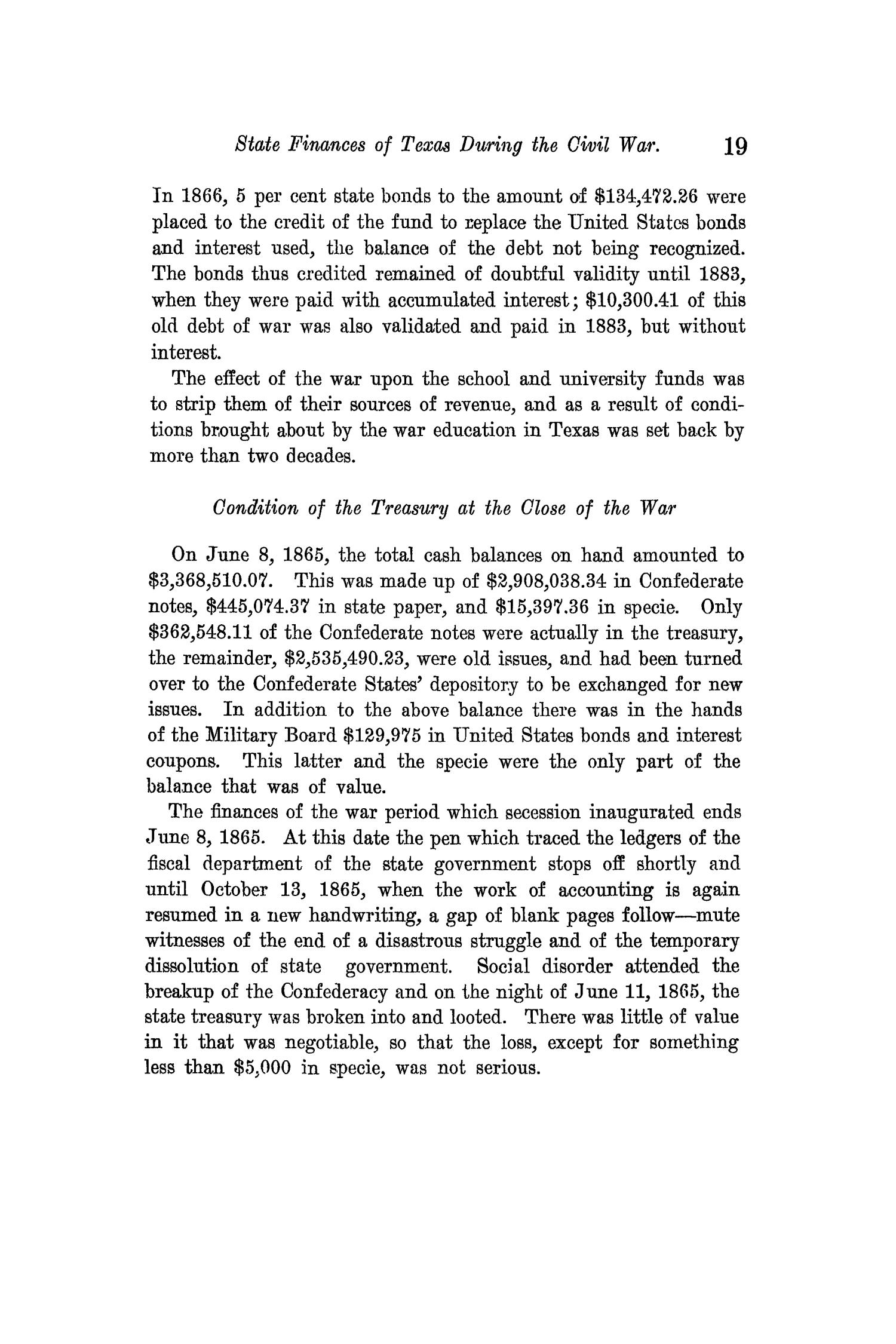 The Quarterly of the Texas State Historical Association, Volume 14, July 1910 - April, 1911                                                                                                      19