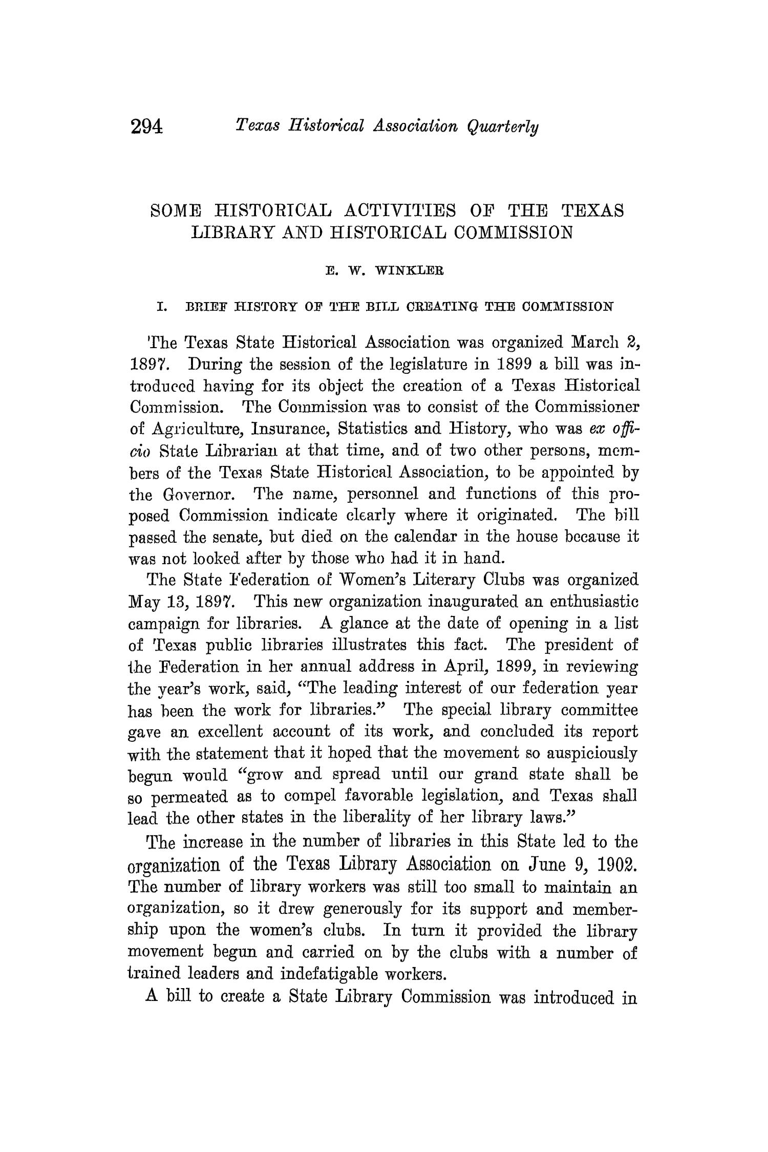 The Quarterly of the Texas State Historical Association, Volume 14, July 1910 - April, 1911                                                                                                      294