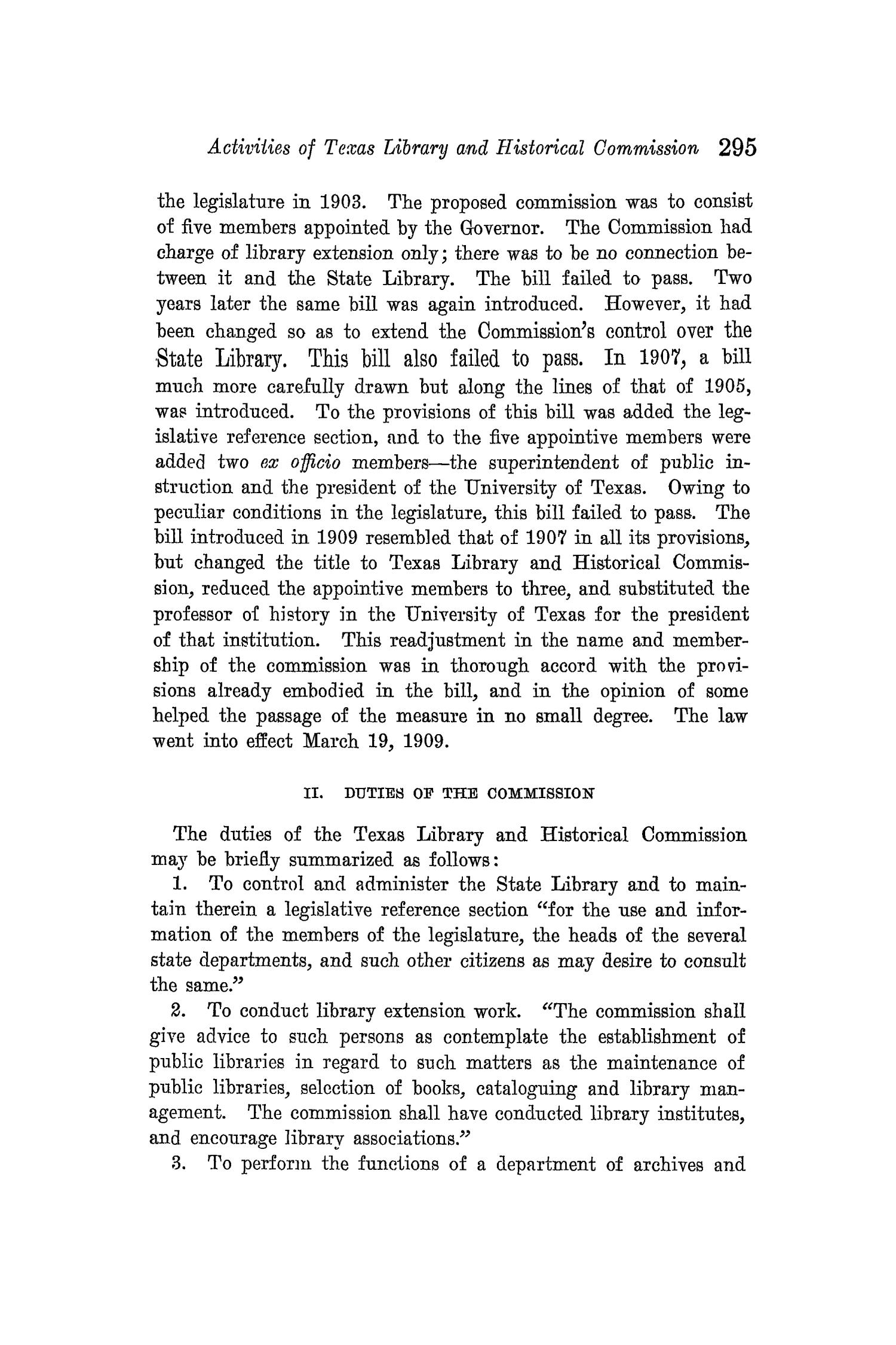 The Quarterly of the Texas State Historical Association, Volume 14, July 1910 - April, 1911                                                                                                      295
